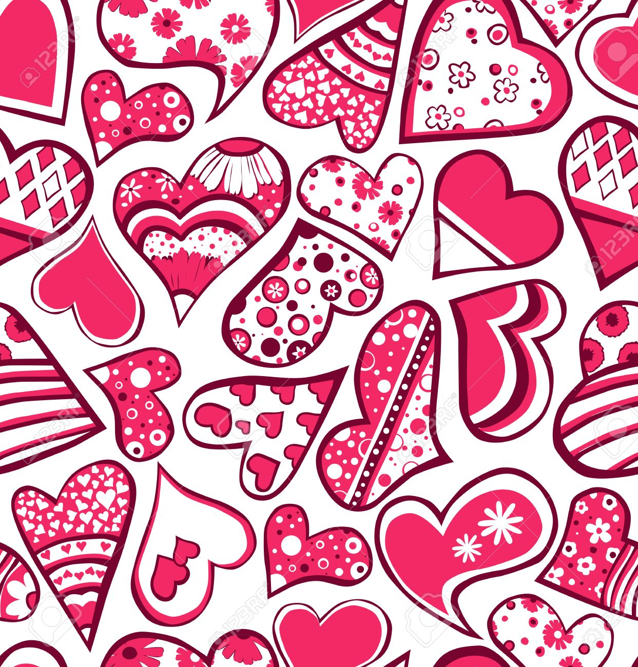 Pink seamless pattern with hearts Stock Vector - 11878204