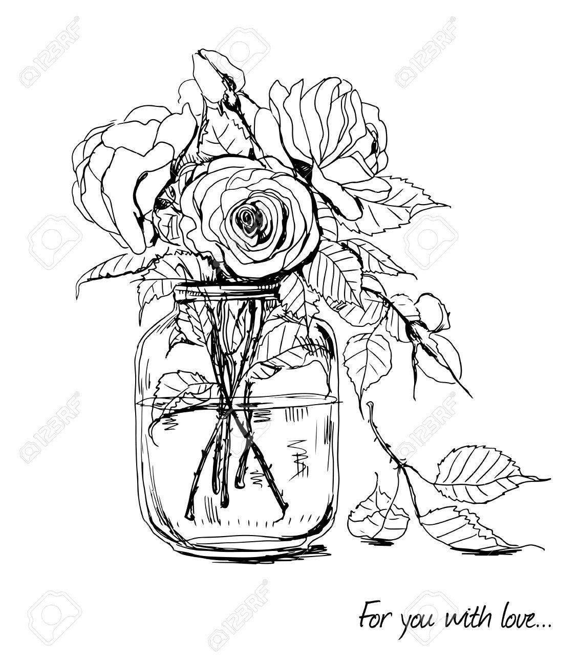 drawn roses
