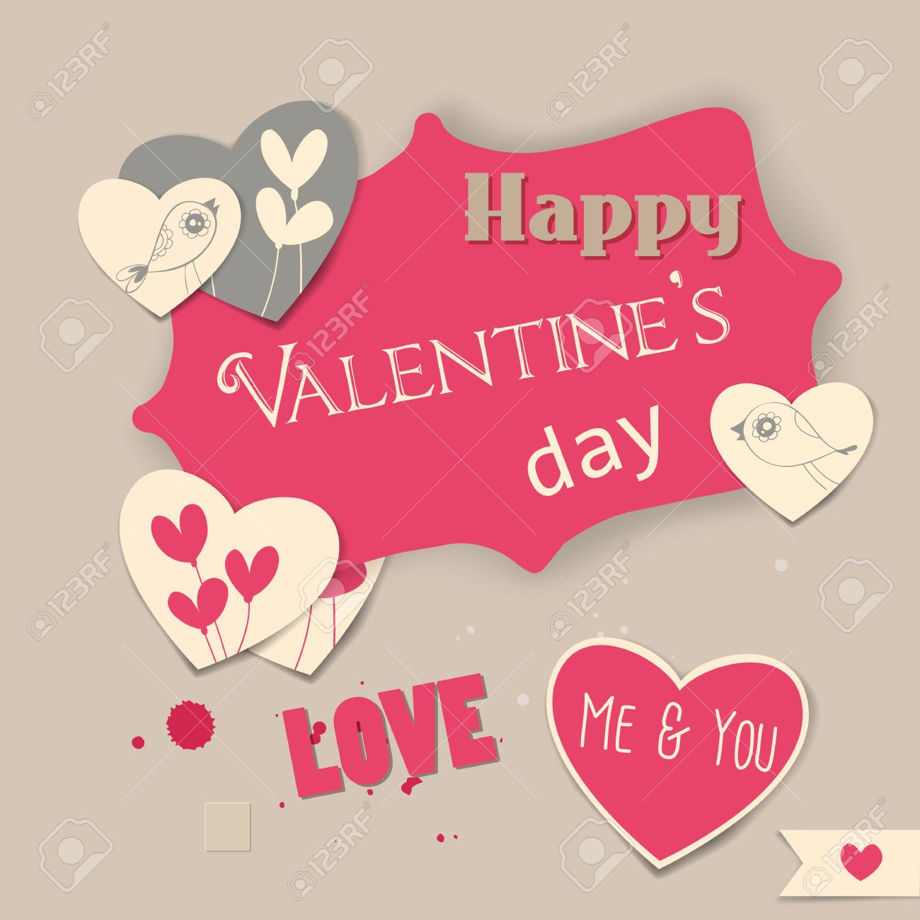 Valentine Day Scrapbook Illustration Label And Heart Shaped – Valentine Day Label