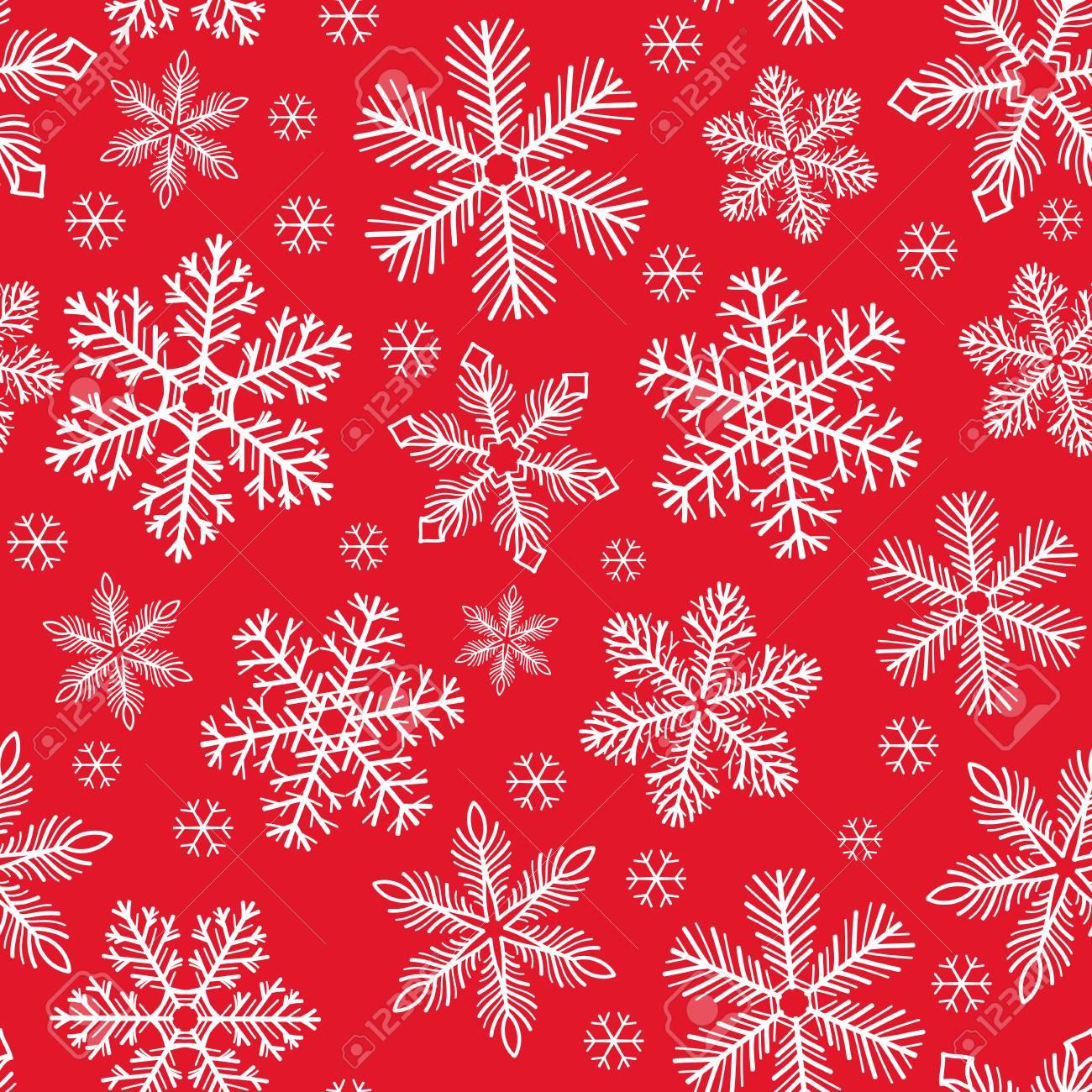 accessoire de No\u00ebl Sac \u00e0 vin r\u00e9utilisable en tissu pr\u00e9sent d/'anniversaire Flocons de neige blancs sur fond rouge emballage \u00e9cologique