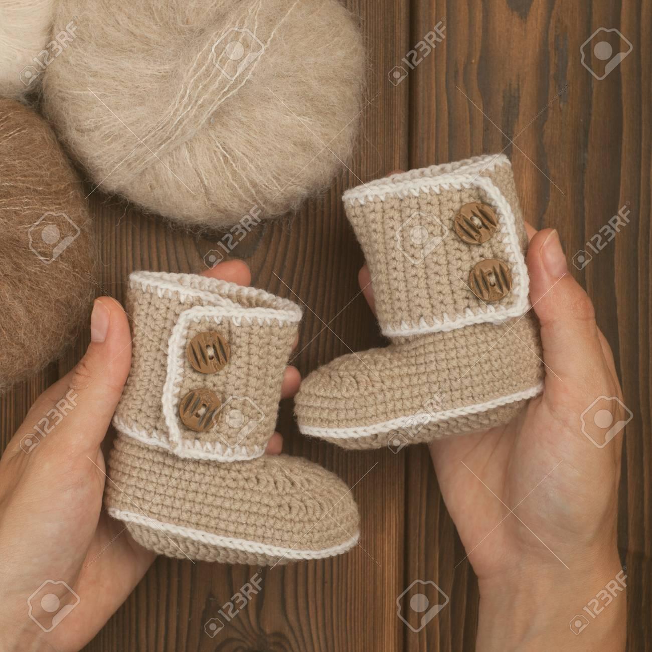 Baby Booties For Newborn Baby In Mother