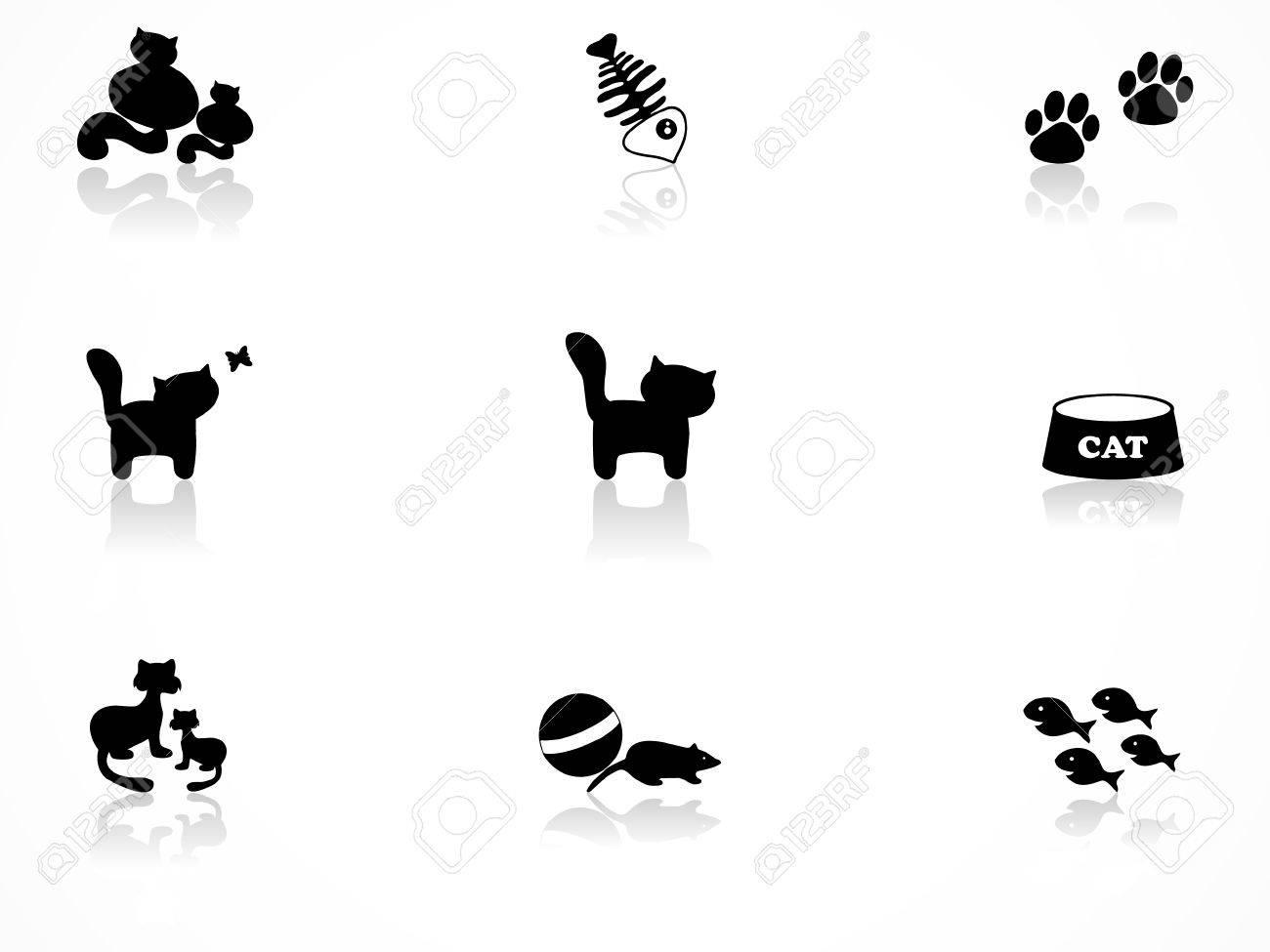Cat icons set Stock Vector - 8144104