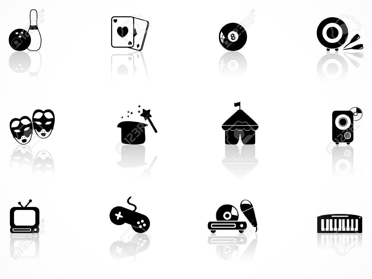 Entertainment icons set Stock Vector - 8363350