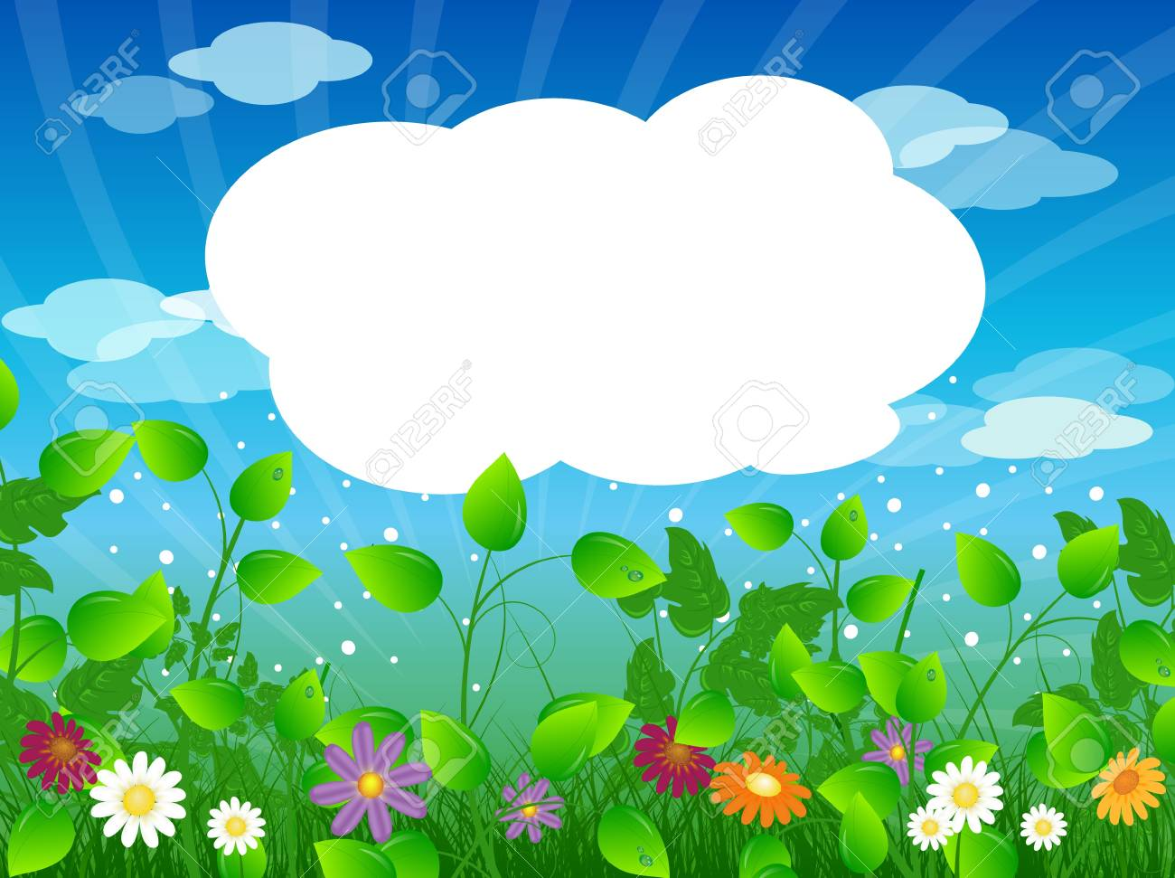 summer meadow background with place for your text Stock Vector - 9687108