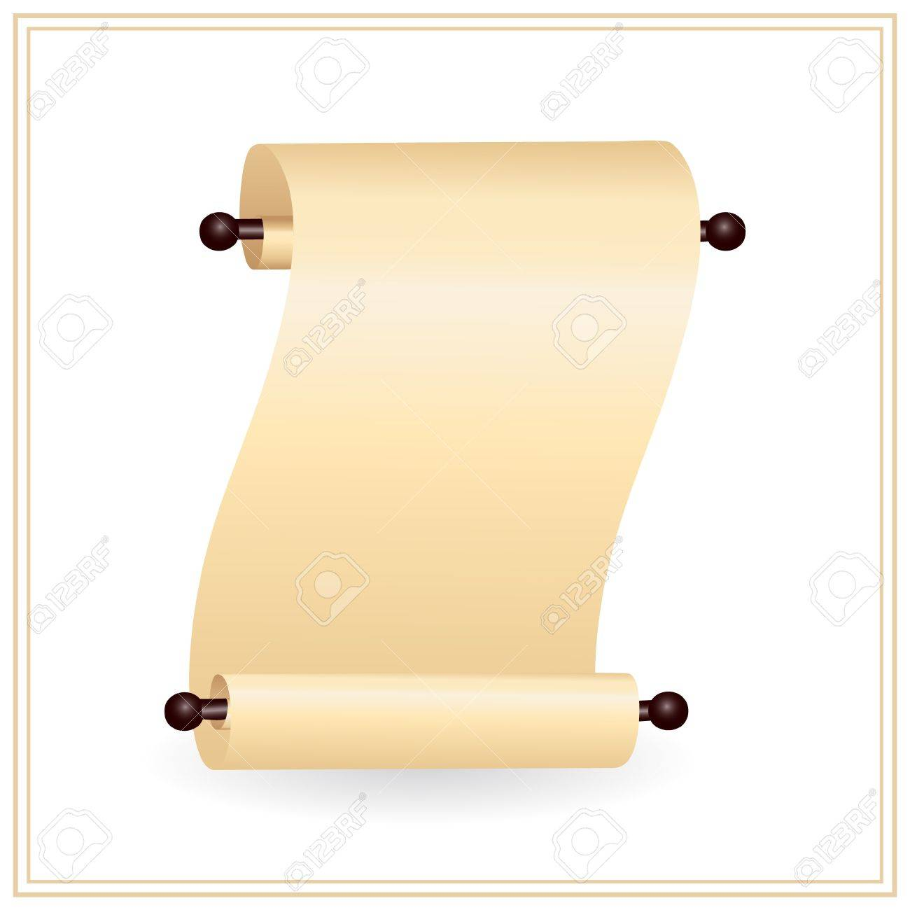 scrolled paper with place for your text Stock Vector - 9892881