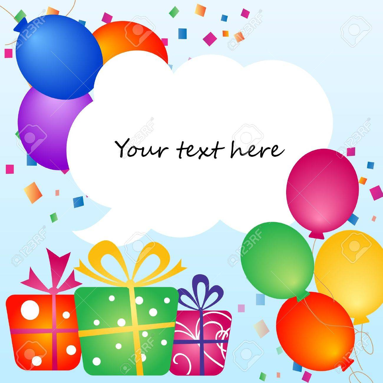 Colorful Balloons With Place For Your Text Royalty Free Cliparts – Birthday Invitation Background