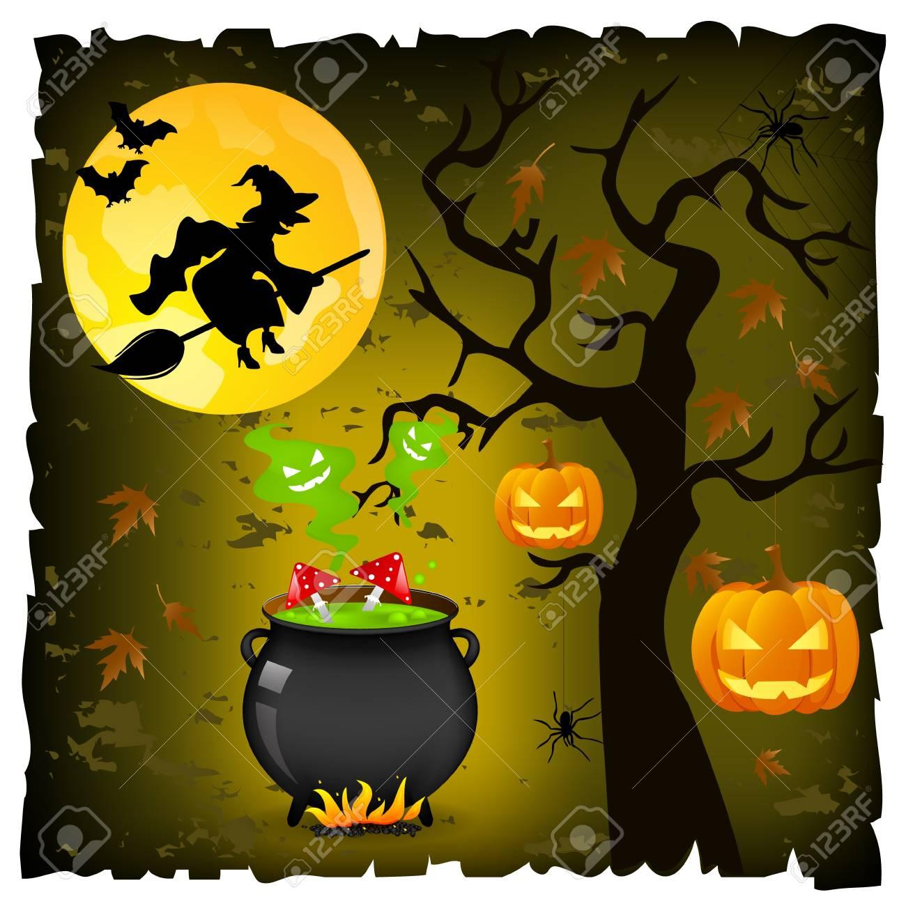 halloween background Stock Vector - 10985765