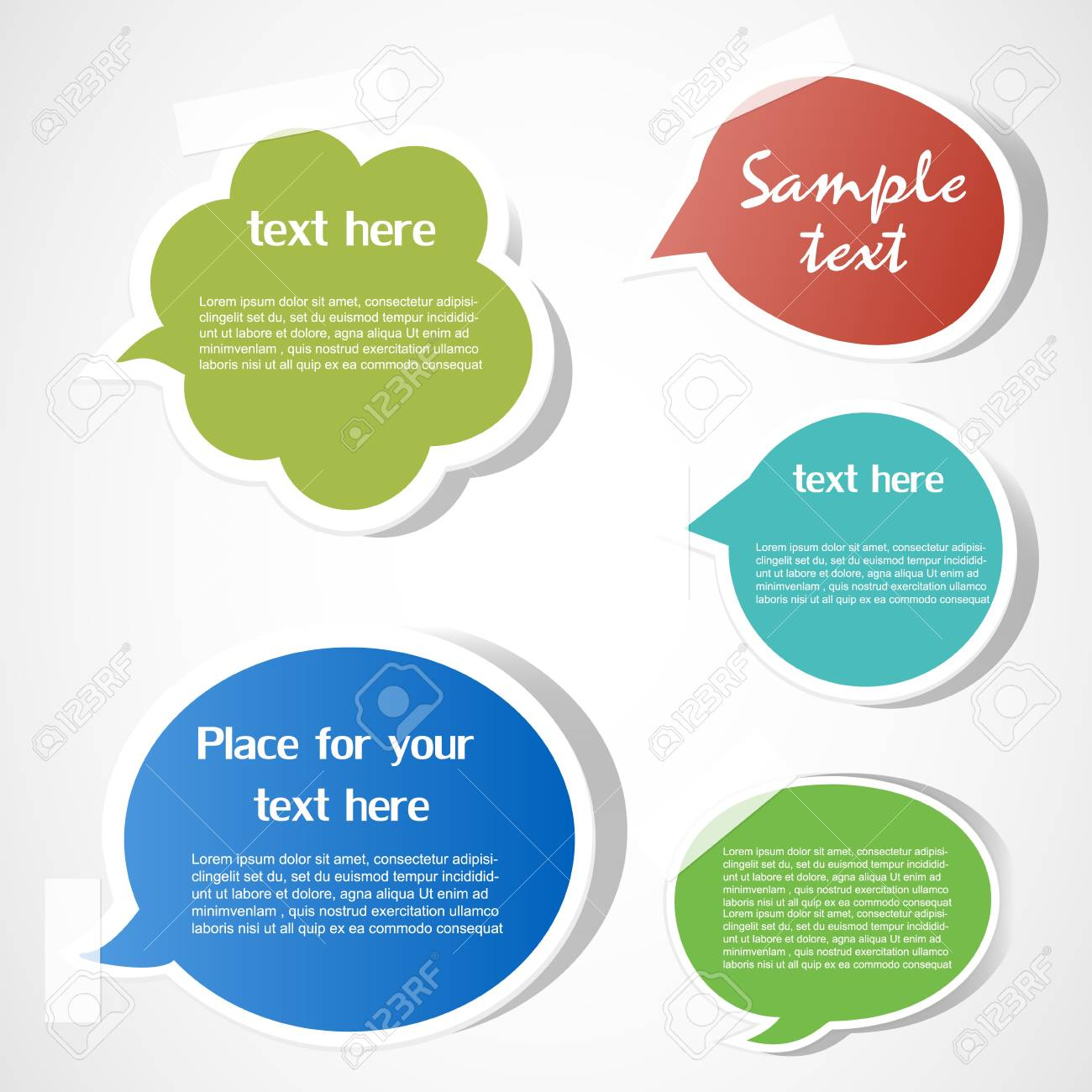 Speech bubbles Stock Vector - 12485727
