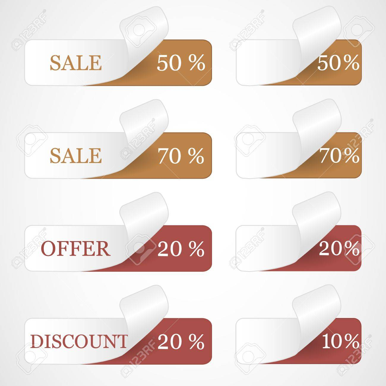 Discount labels Stock Vector - 12485714