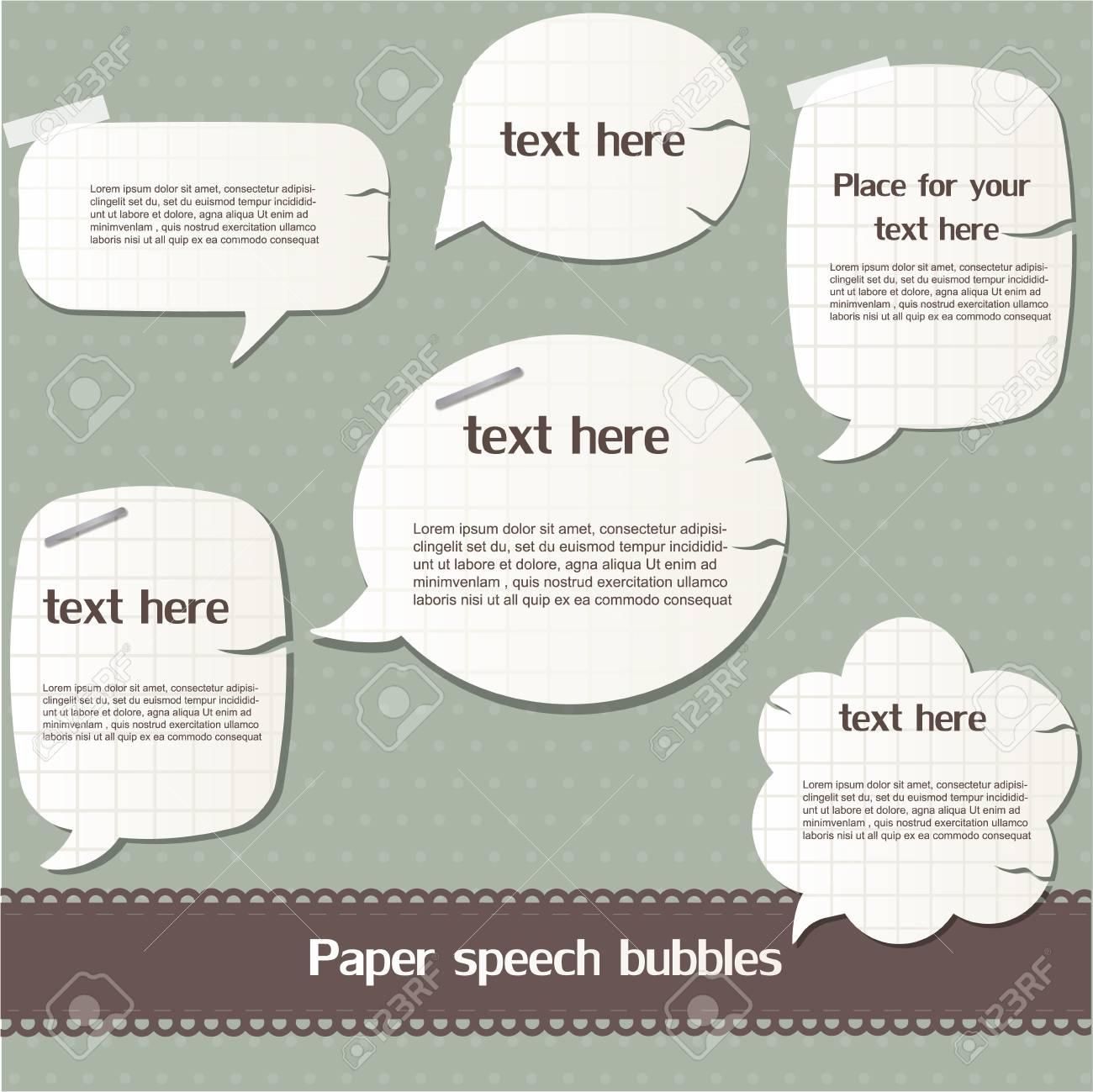 Paper speech bubbles Stock Vector - 12792537
