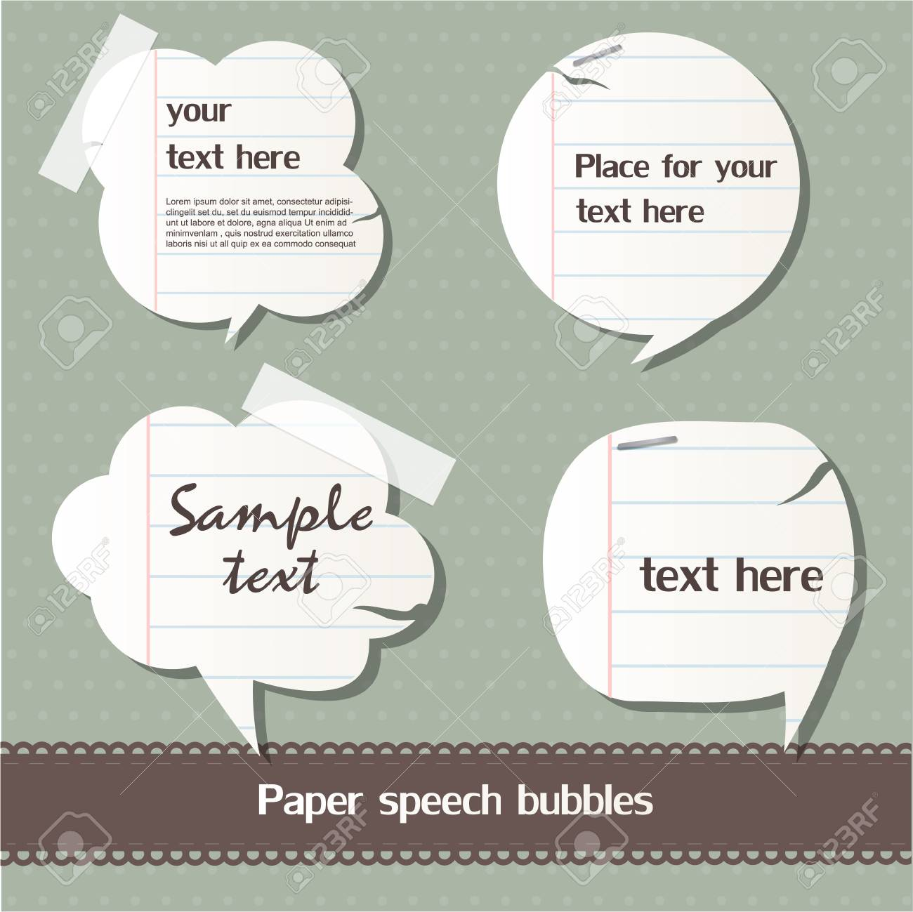 Paper speech bubbles Stock Vector - 12793346