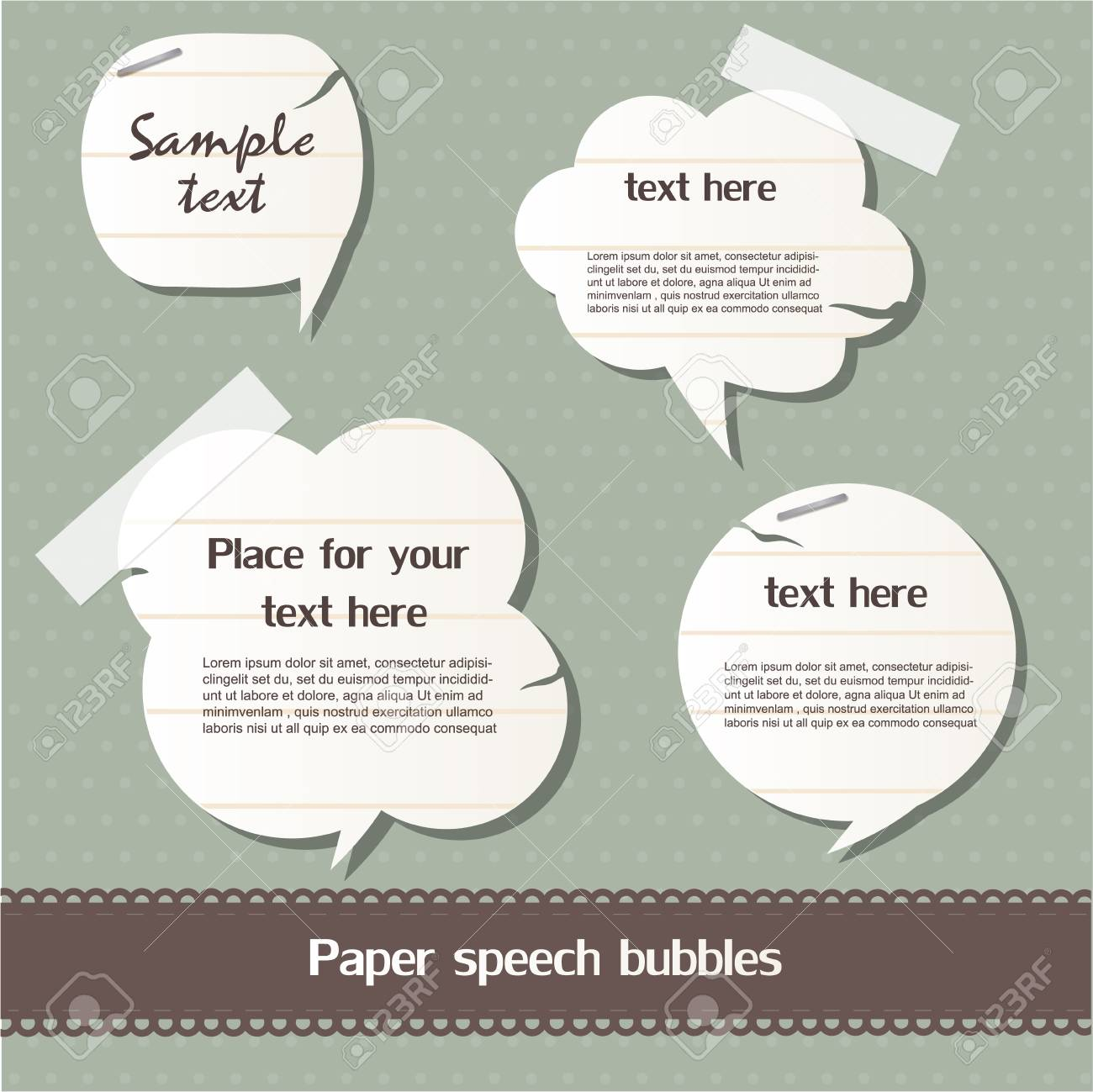 Paper speech bubbles Stock Vector - 12793350
