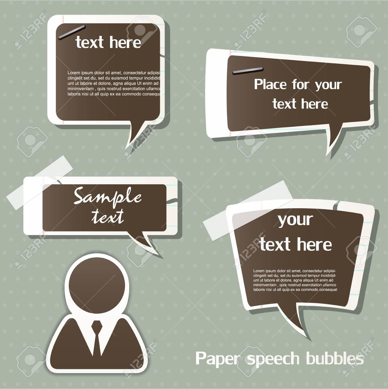 Paper speech bubbles Stock Vector - 12795892