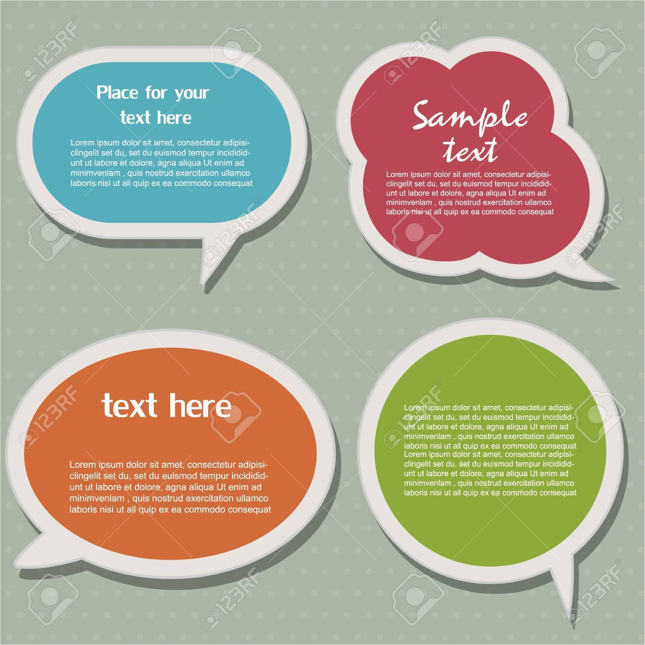 Speech bubbles Stock Vector - 12824239