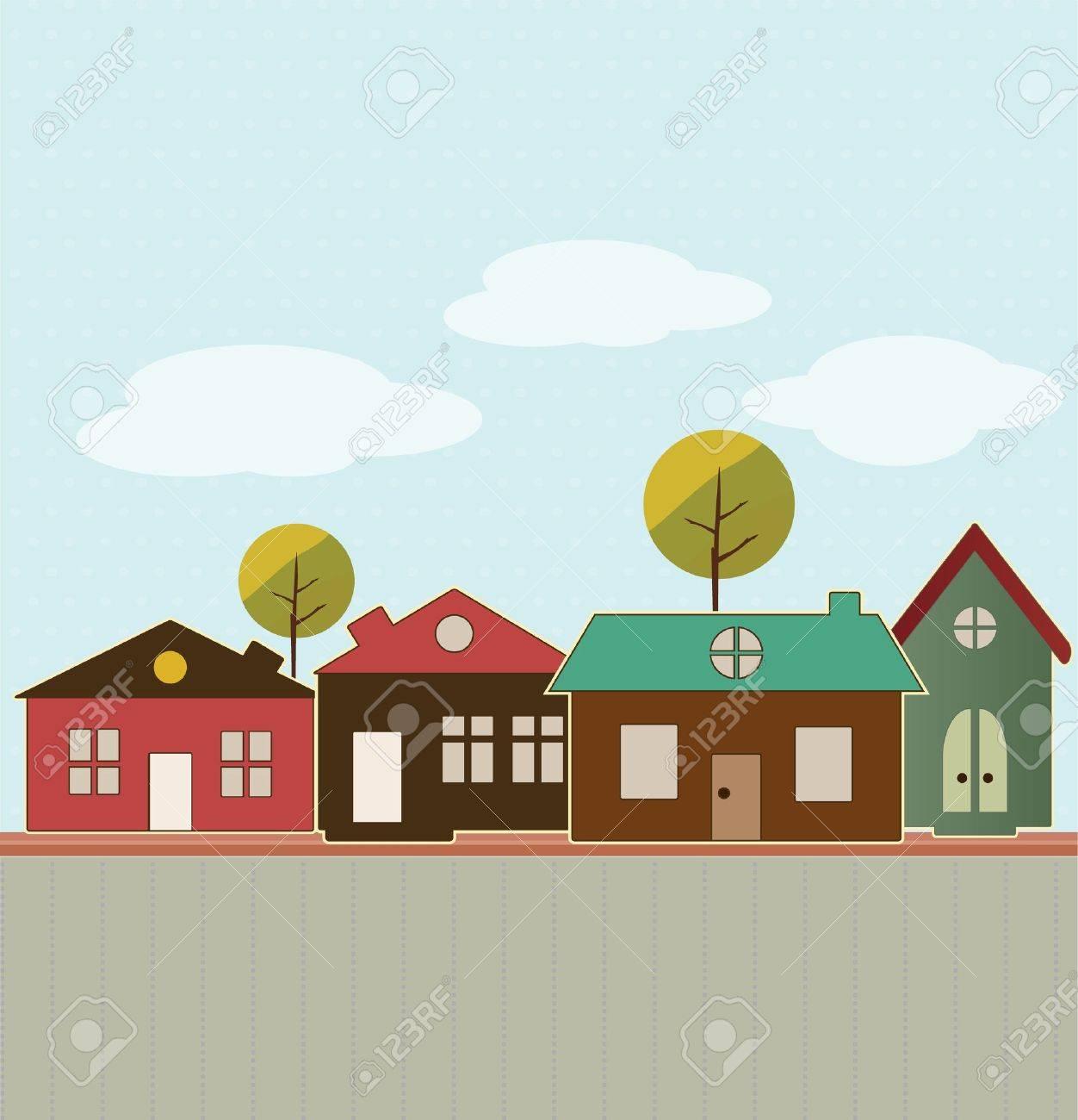 Cartoon town Stock Vector - 13585595