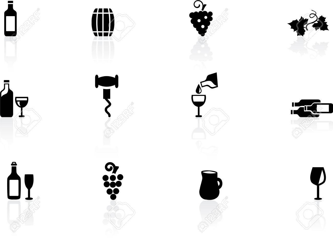 Wine icons Stock Vector - 14295530