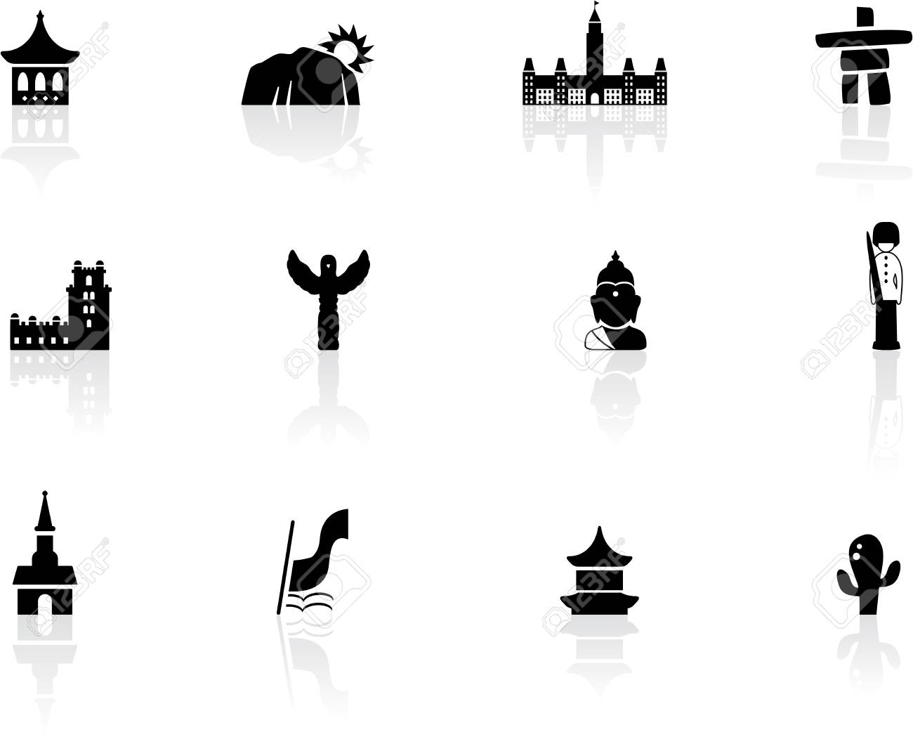 Landmarks and cultures icons Stock Photo - 14478790