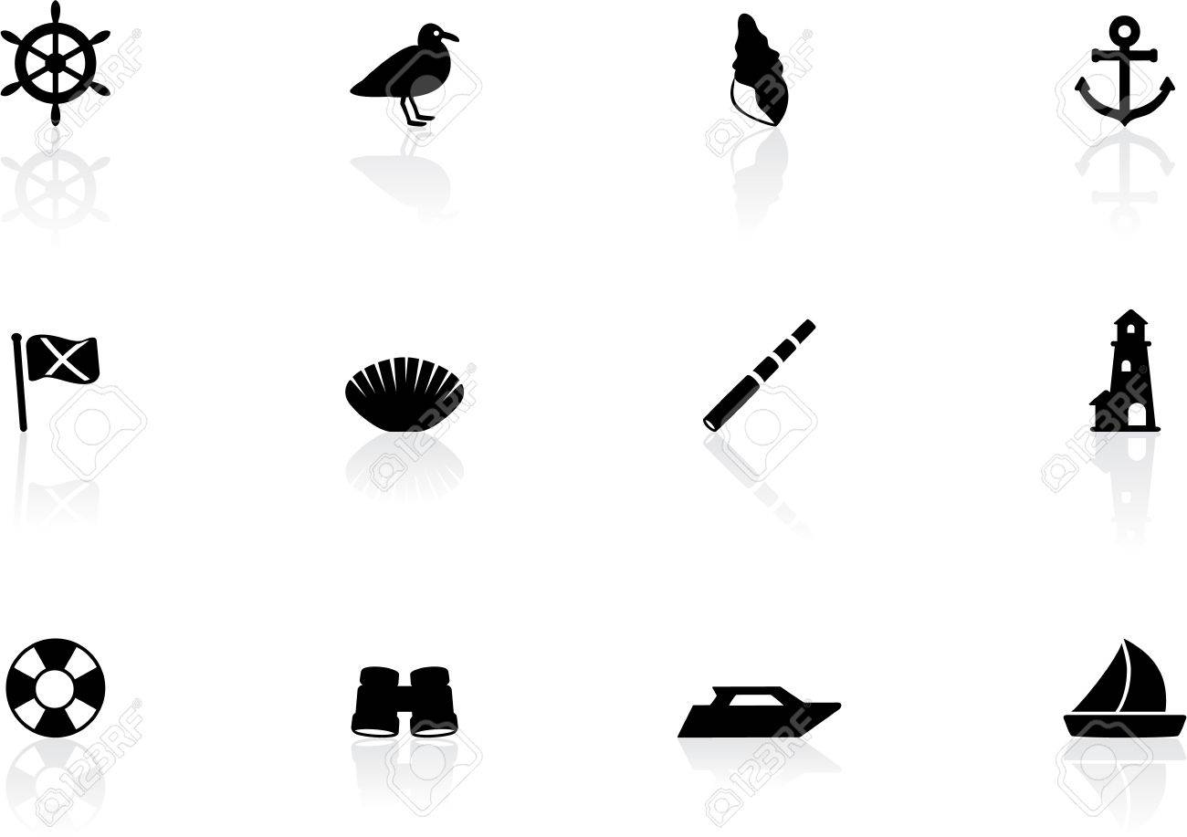 Seaside icons Stock Vector - 14518689