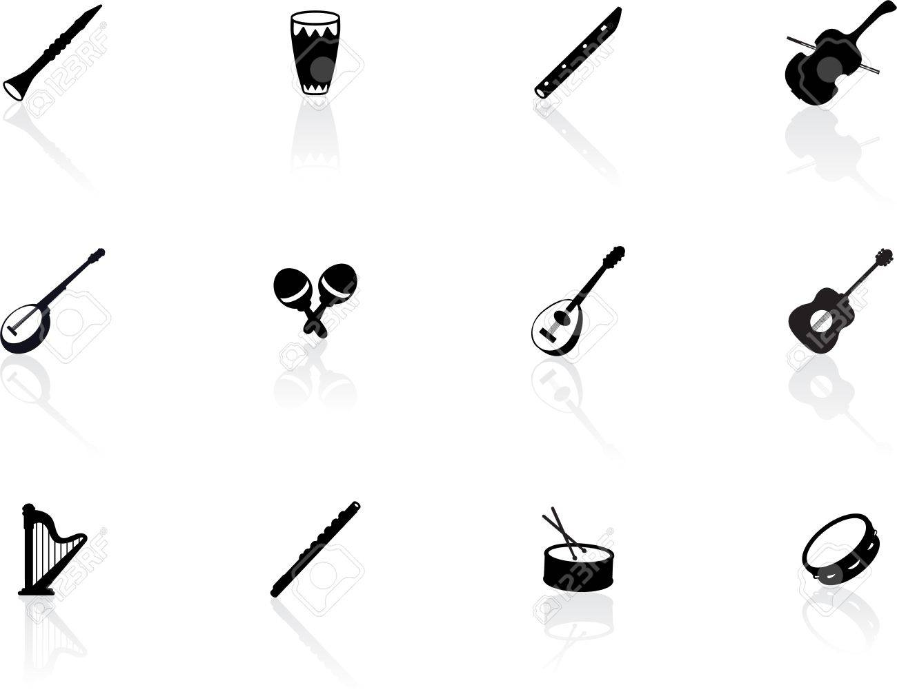 Musical instrument icons Stock Vector - 15845349
