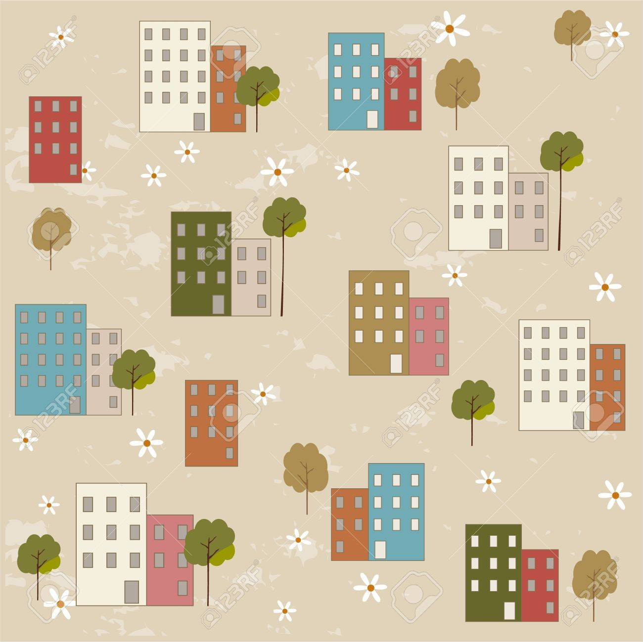 Houses pattern Stock Vector - 15903254
