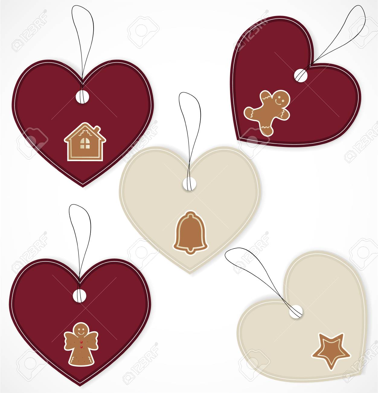 Christmas tags Stock Vector - 16660193