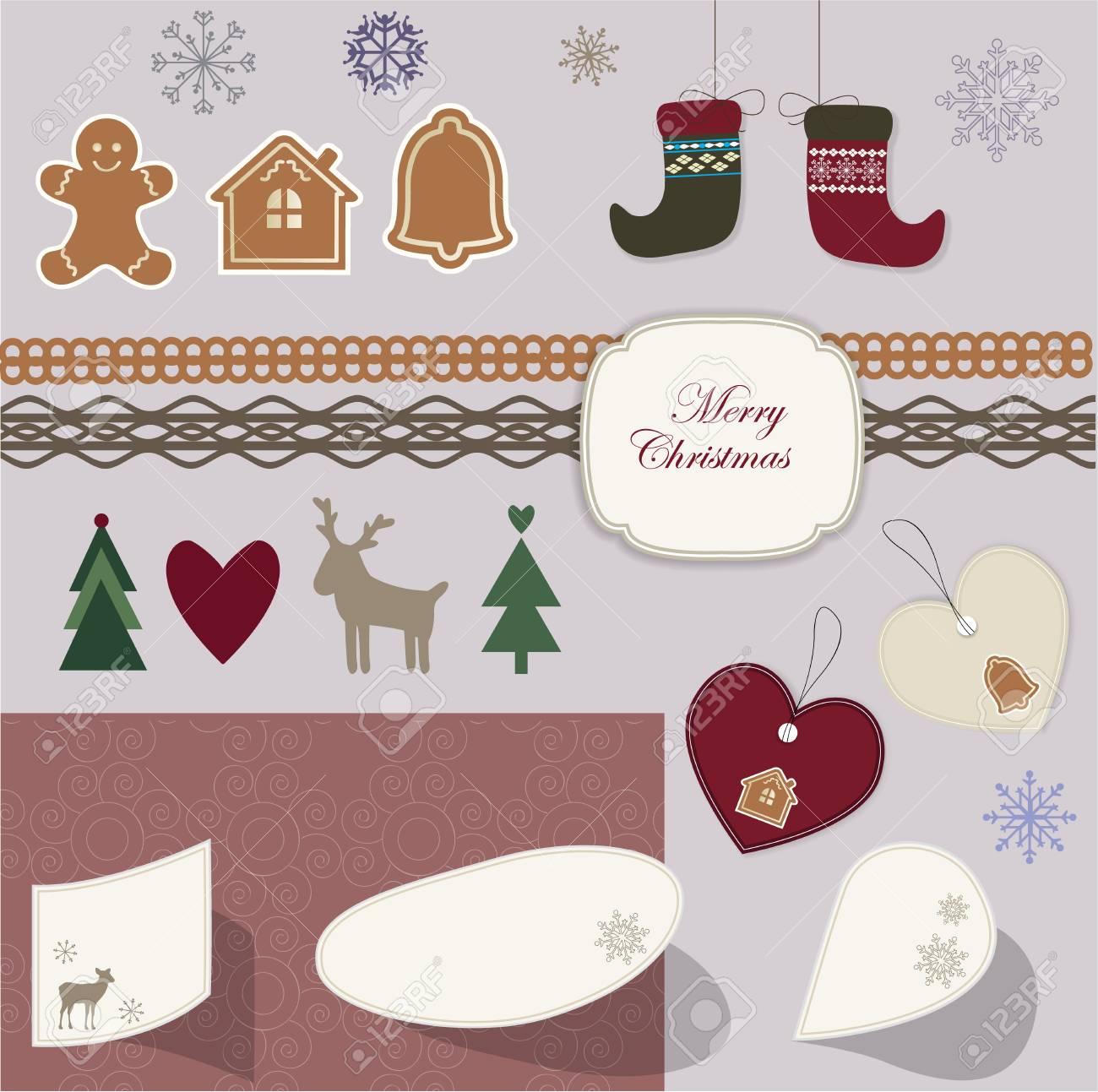 Christmas scrapbook Stock Vector - 16720513