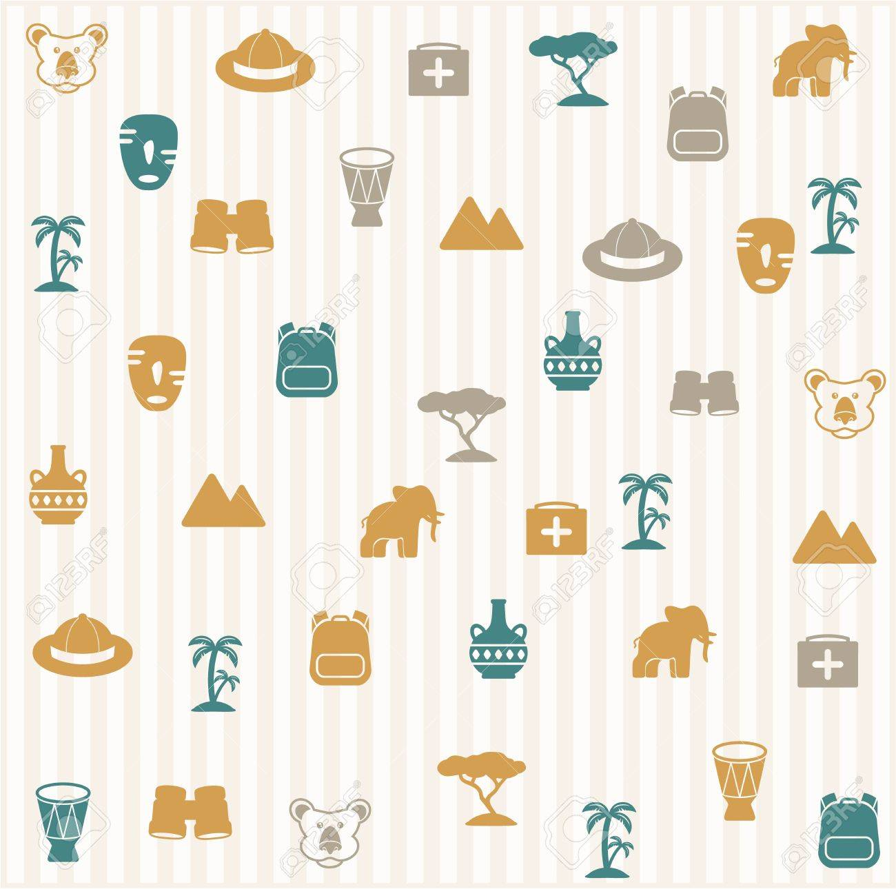 African seamless pattern Stock Vector - 16966258
