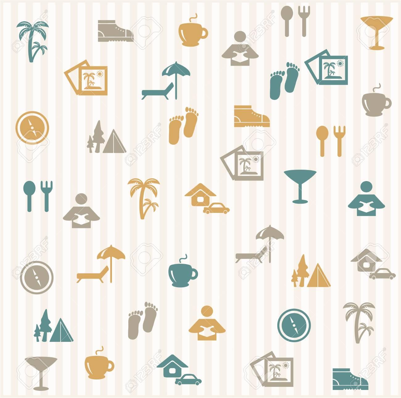 Tourist seamless pattern Stock Vector - 16966281