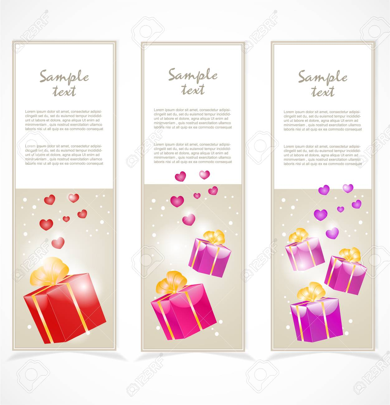 Banners with gift boxes Stock Vector - 17353867