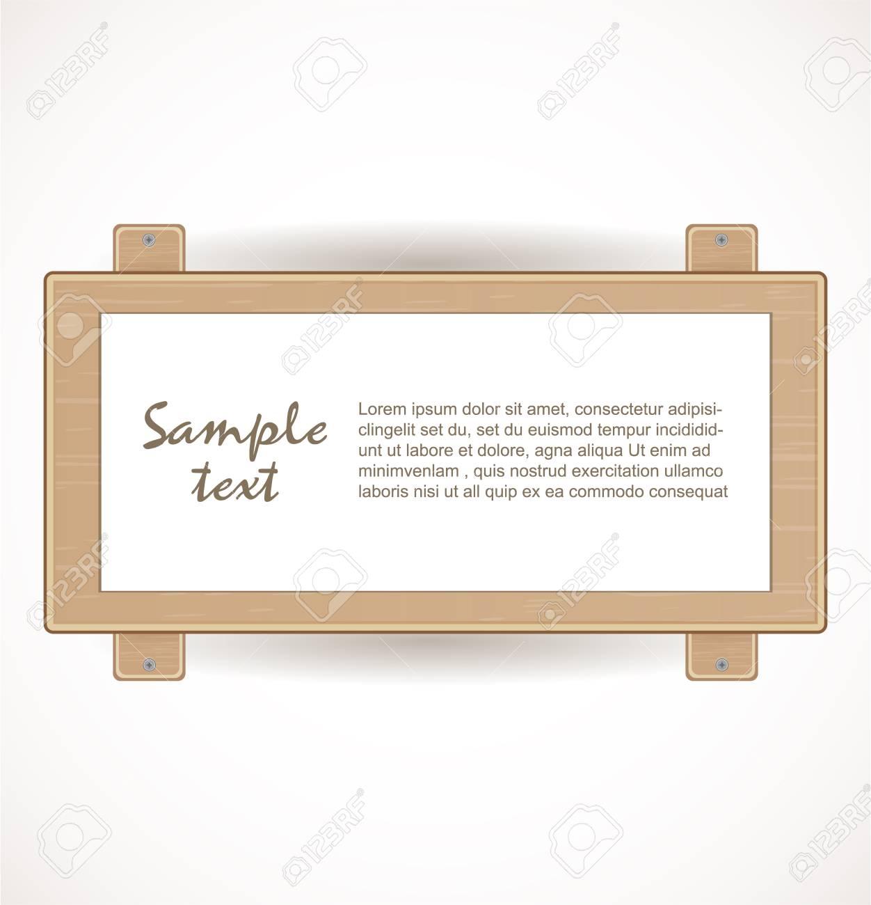 Wooden signboard Stock Vector - 17446578