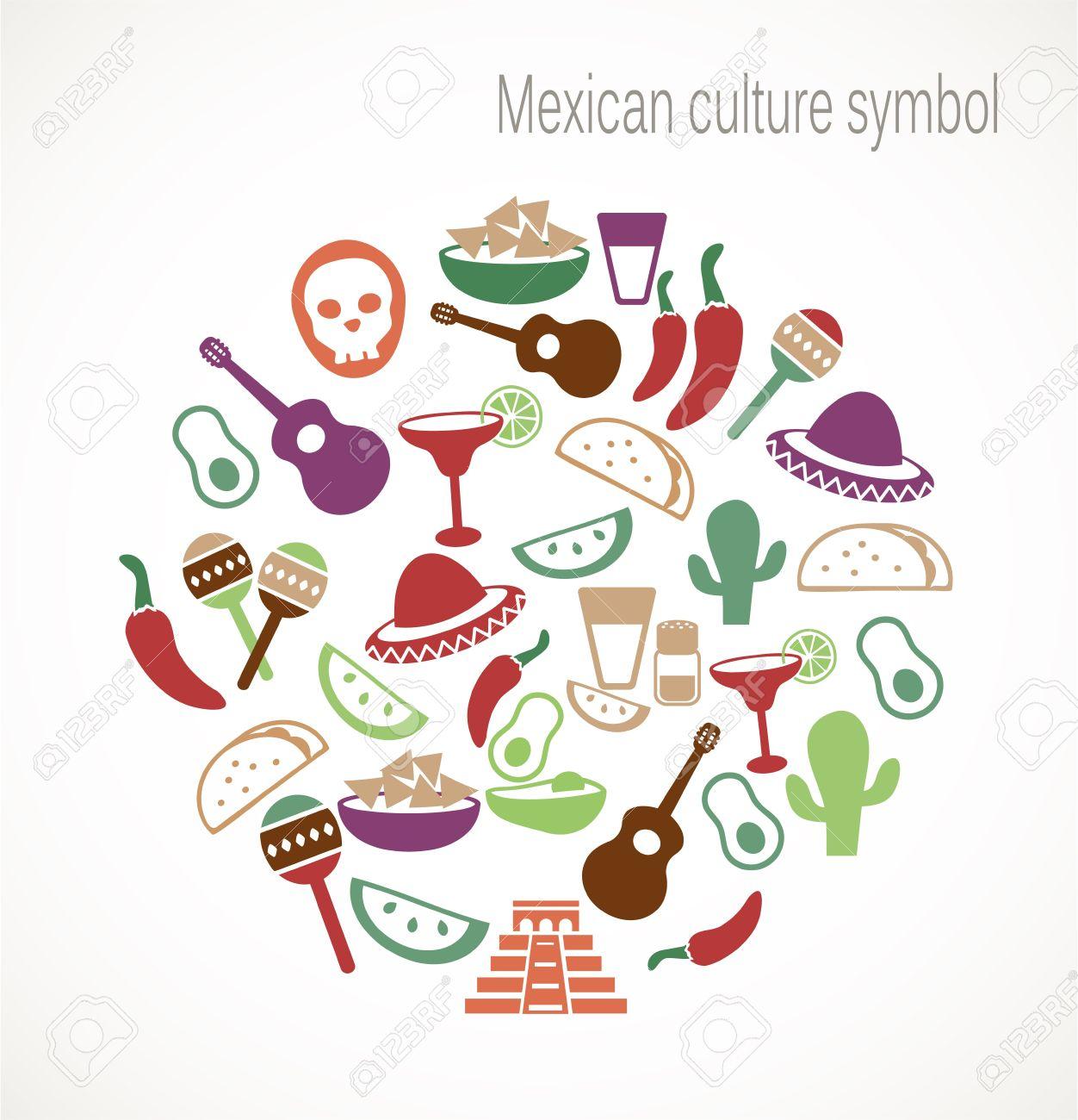 símbolos de la cultura mexicana ilustraciones vectoriales clip art