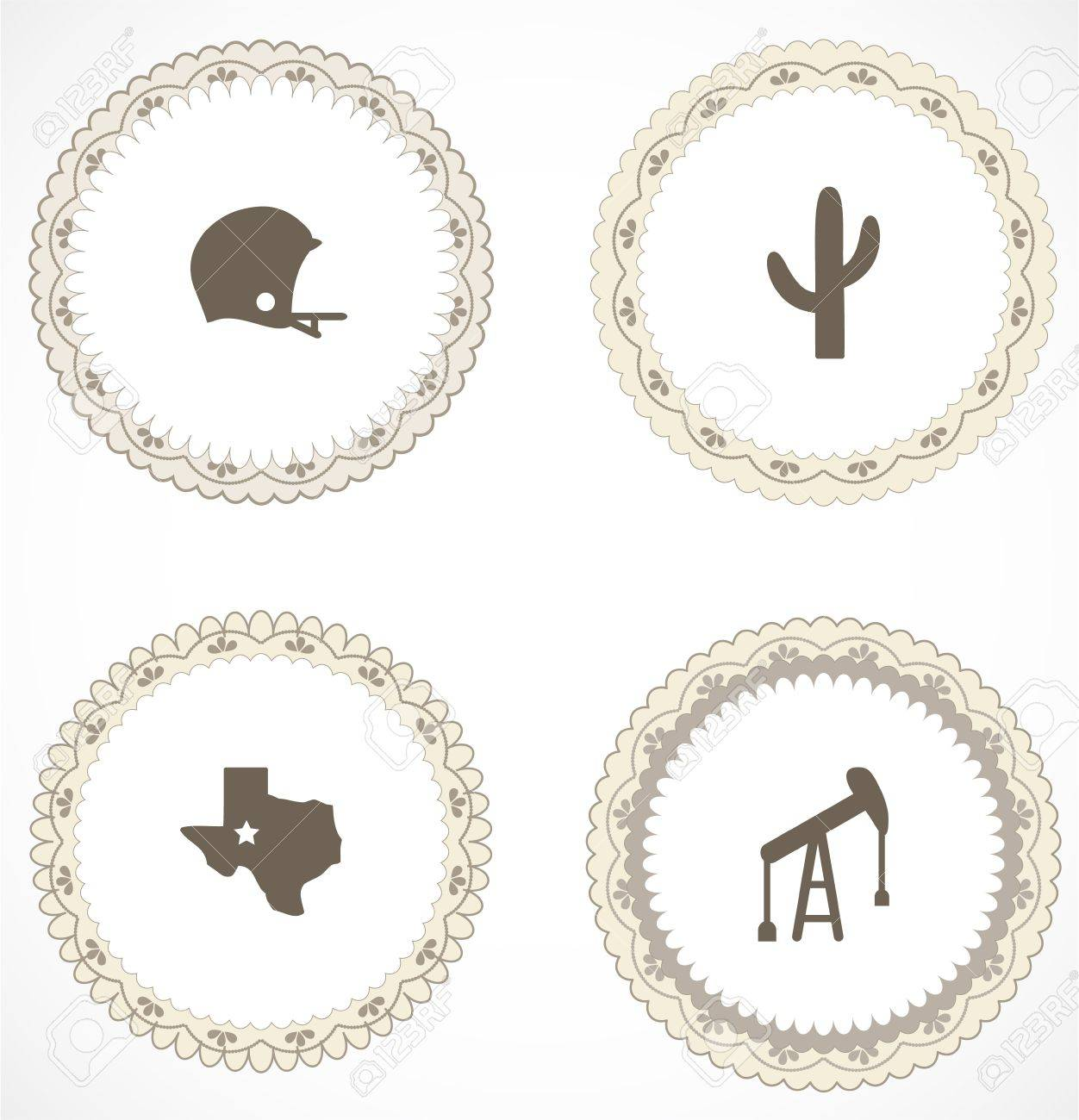 Vintage labels with icons Stock Vector - 18847200