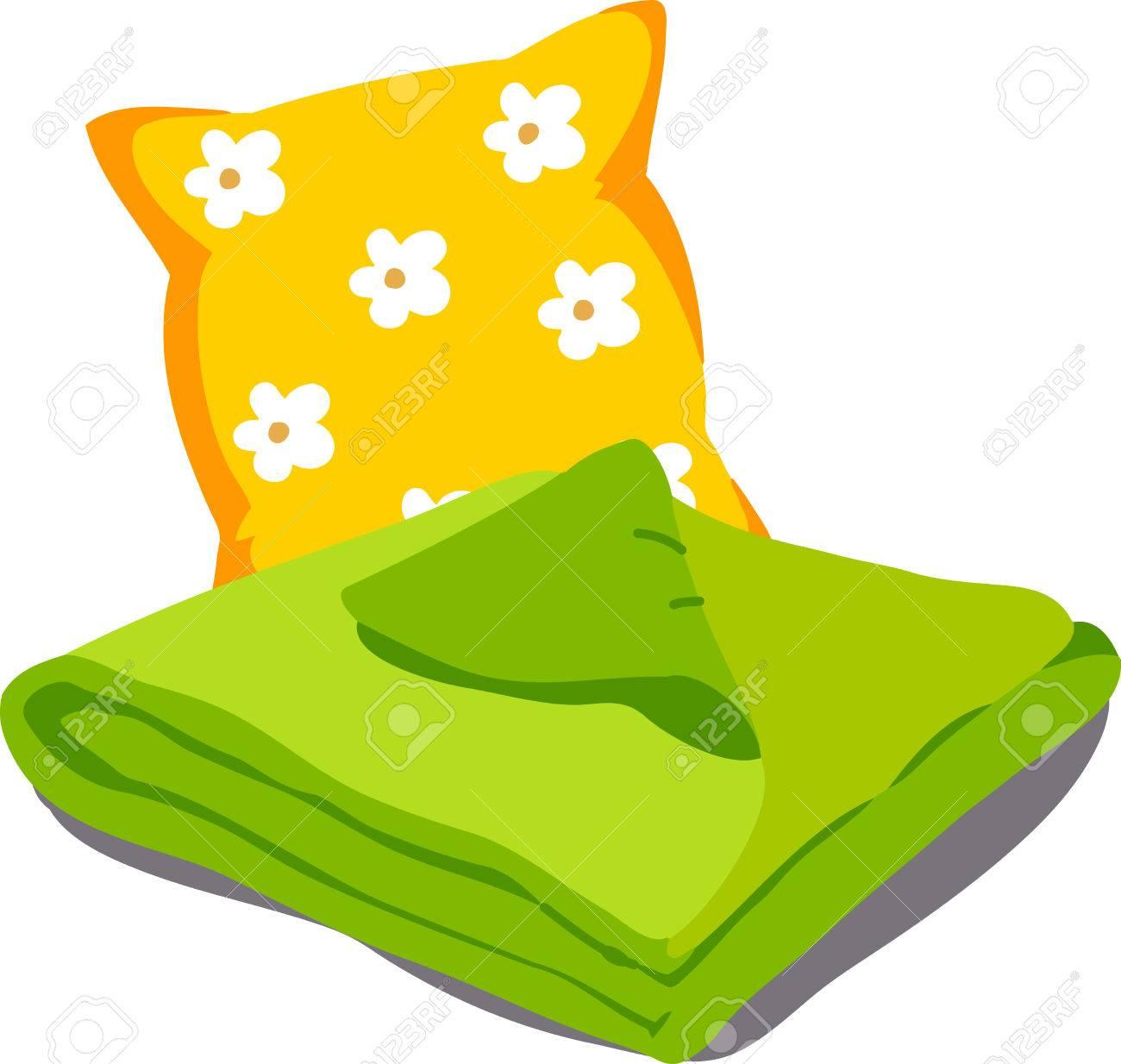 couverture linge de lit Couleur Linge De Lit. Oreillers, Draps, Couvertures. Vector  couverture linge de lit