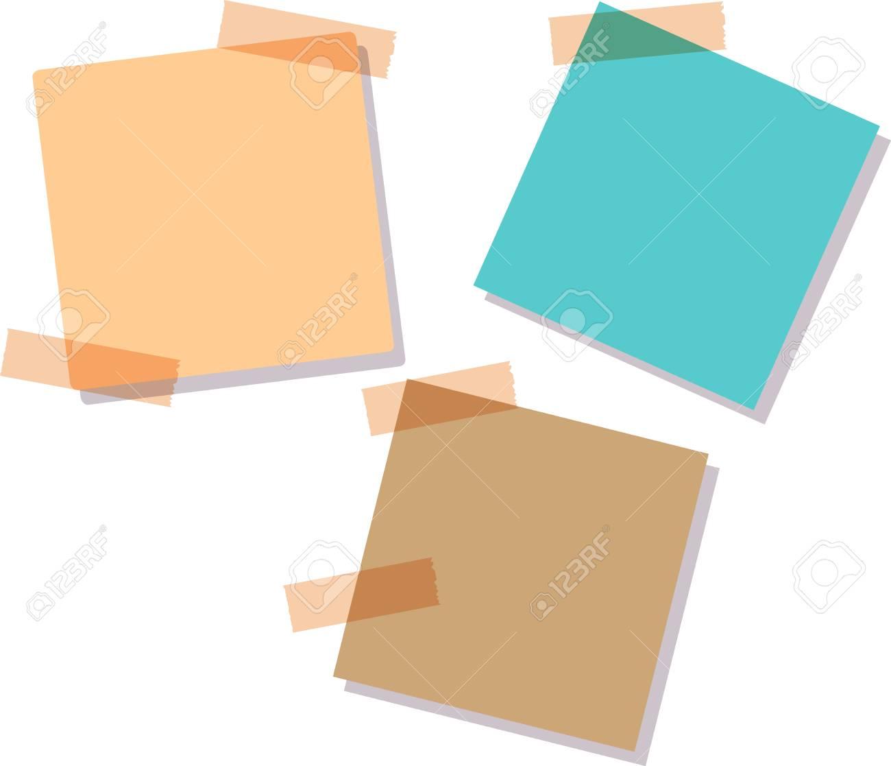 付箋の色セットのイラストです付箋の色セットのイラストです付箋紙は