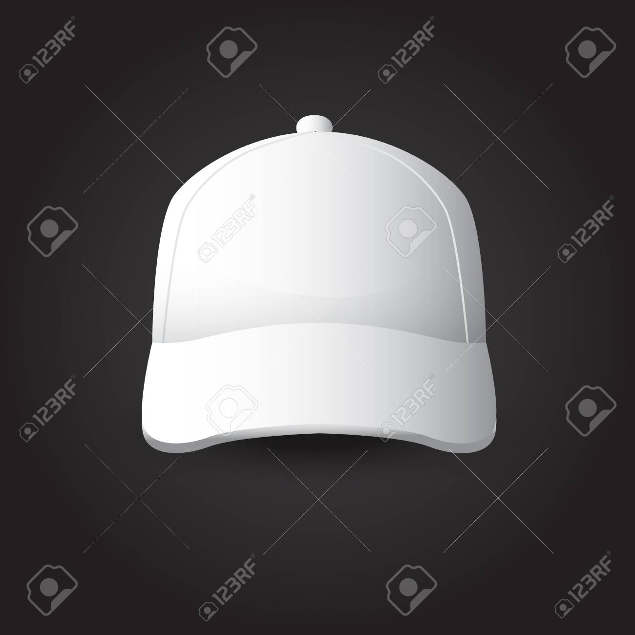 Foto de archivo - Juego de maqueta de gorra de béisbol blanca 26d8c639ca2