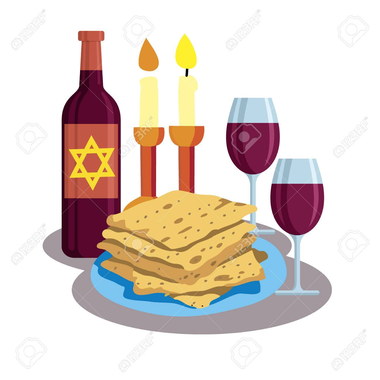 Kabbalat shabbat family dinner greeting card shabbat shalom kabbalat shabbat family dinner greeting card shabbat shalom candles cups and matzo m4hsunfo