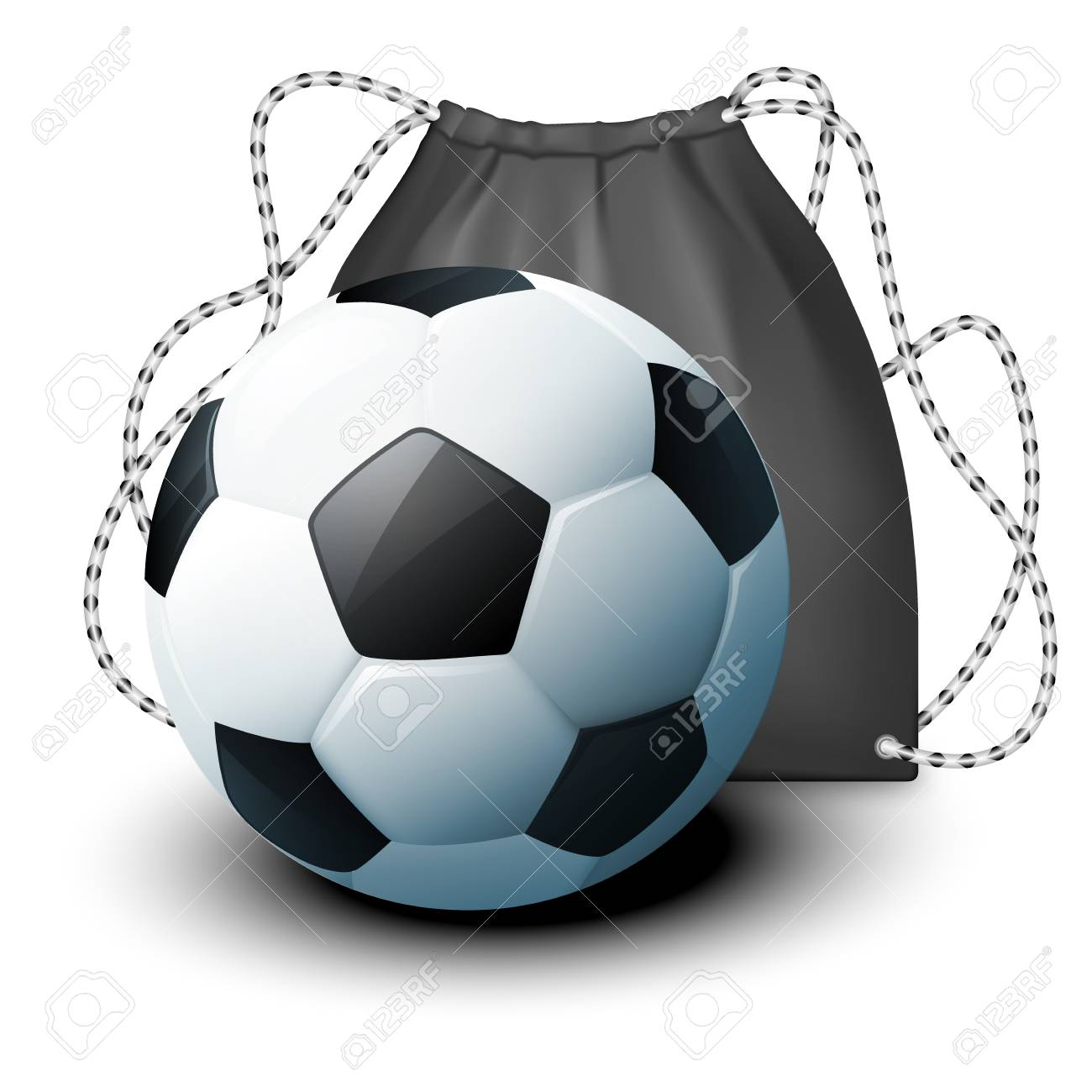 c4a31ce7e804 Vector - Vector icon sport Backpack and a soccer ball in a realistic style.  mockup product layout for demonstrating your design Element for the poster.