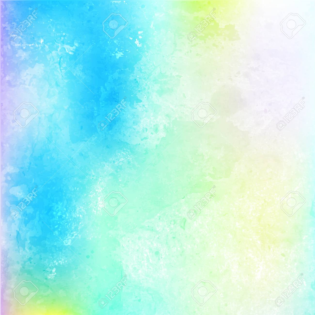 Blue Vector Clouds Background In Watercolor Style Abstract Design Pastel Spring Tones