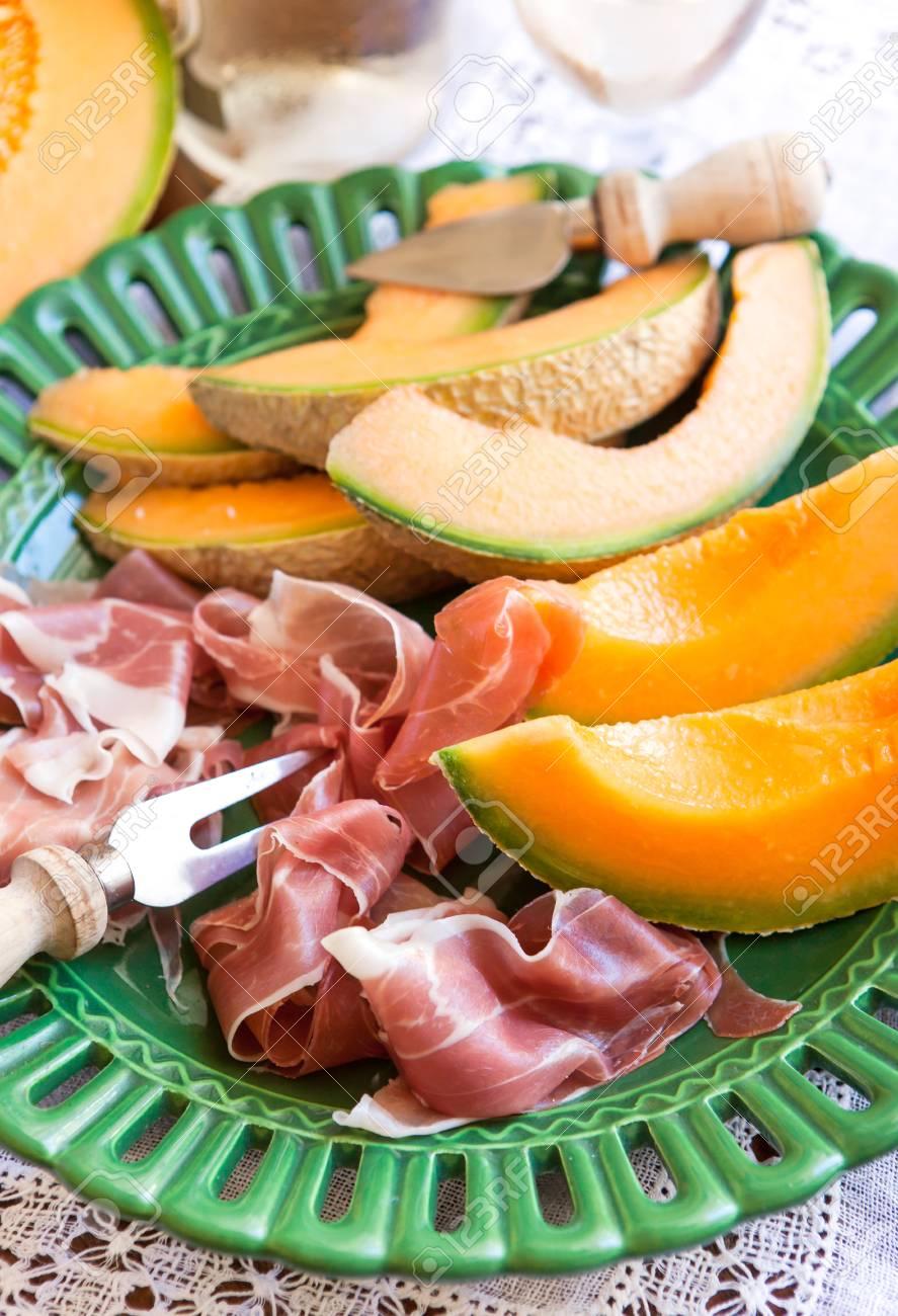 Prosciutto Avec Melon Traditional Aperitif Italien Banque D Images