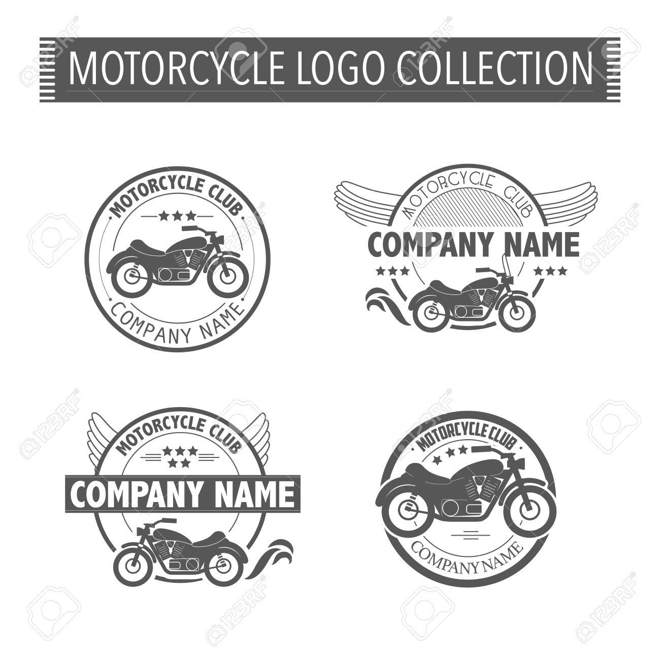 Vector Motorcycle Club Logo Template. Royalty Free Cliparts, Vectors ...