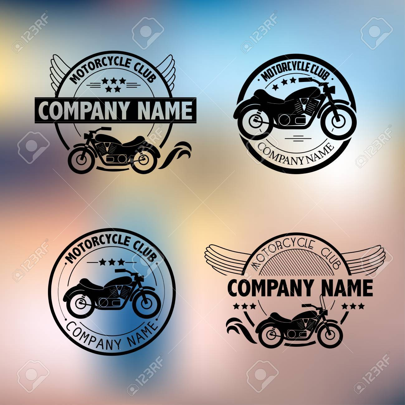 Vector Motorcycle Club Icon Template. Royalty Free Cliparts, Vectors ...