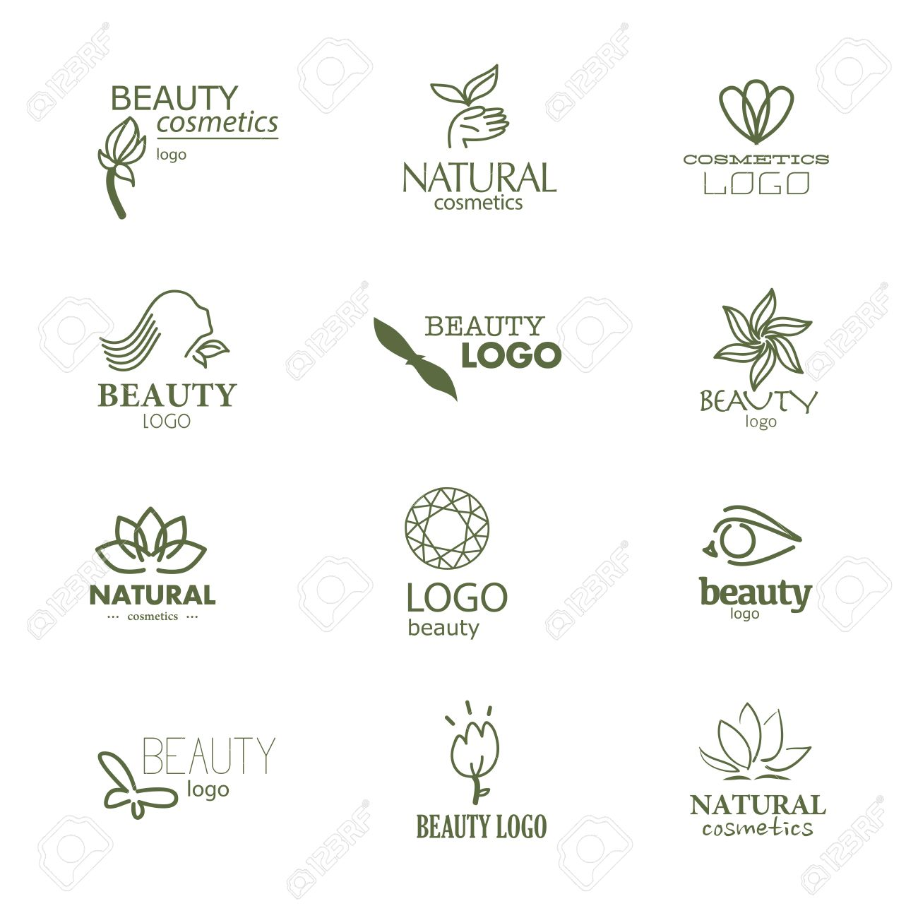 Set of beauty industry and fashion logo  Identity for beauty