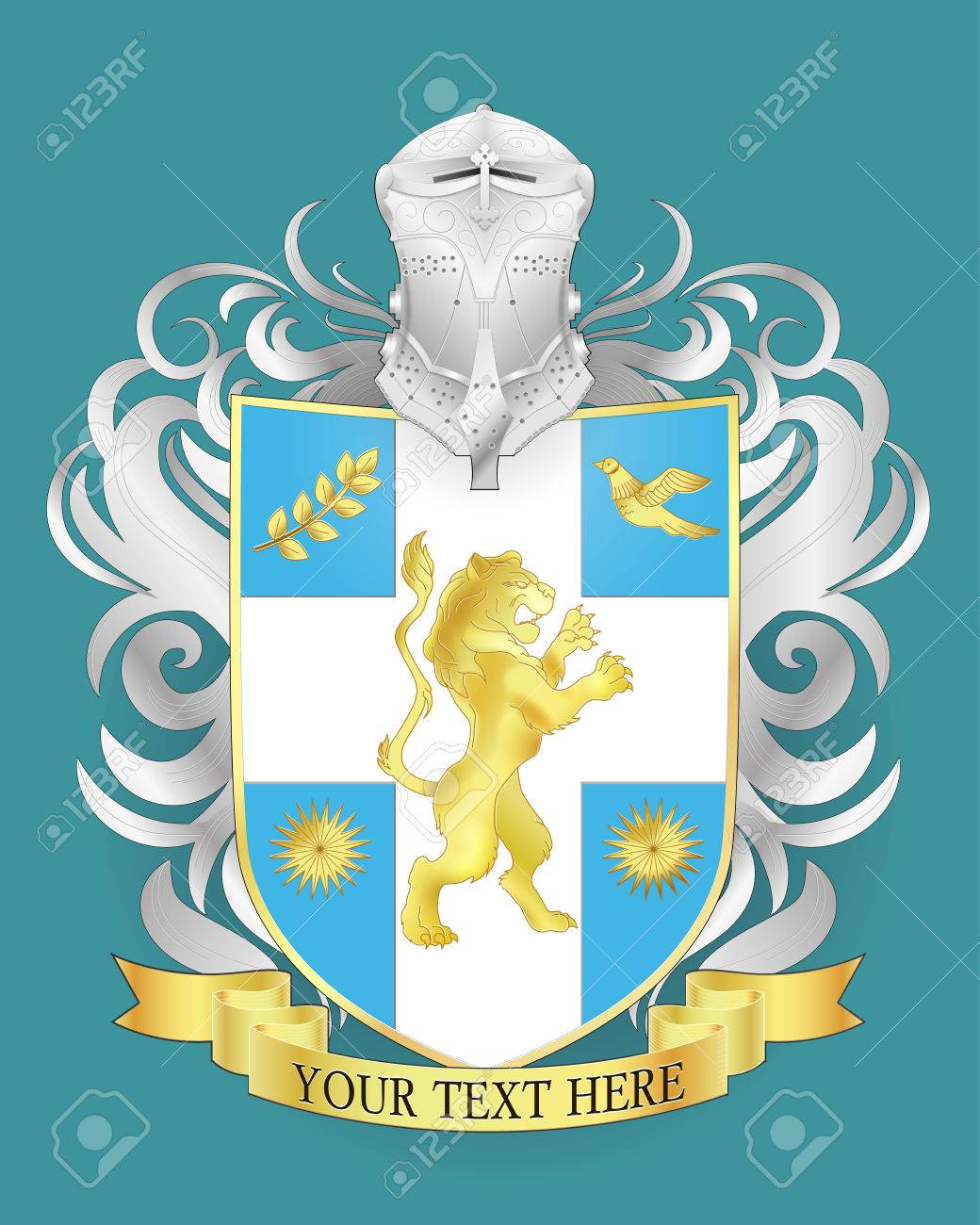 vector heraldic royal crests coat of arms heraldry shield template