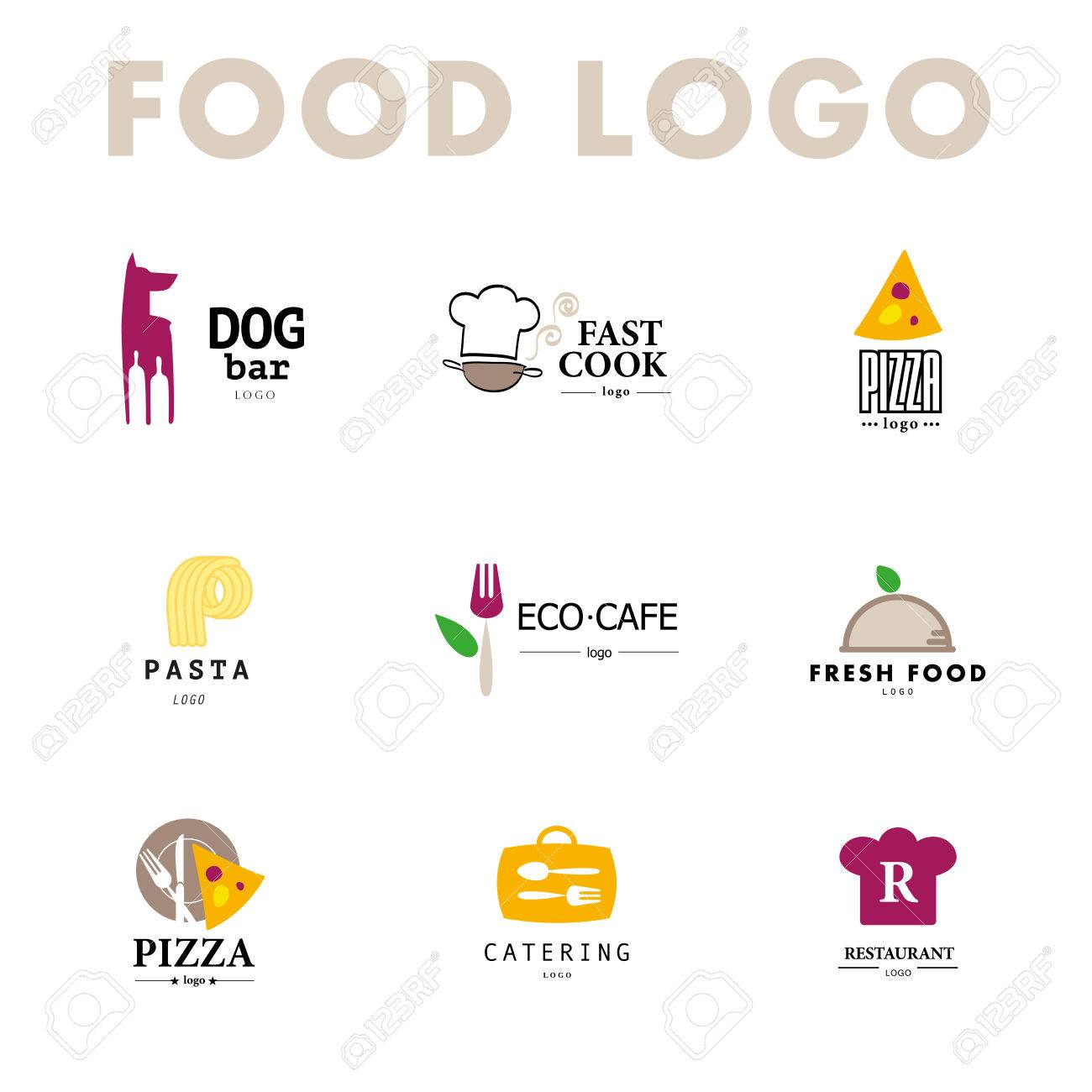 Vector set of restaurant design tempaltes. - 49645733