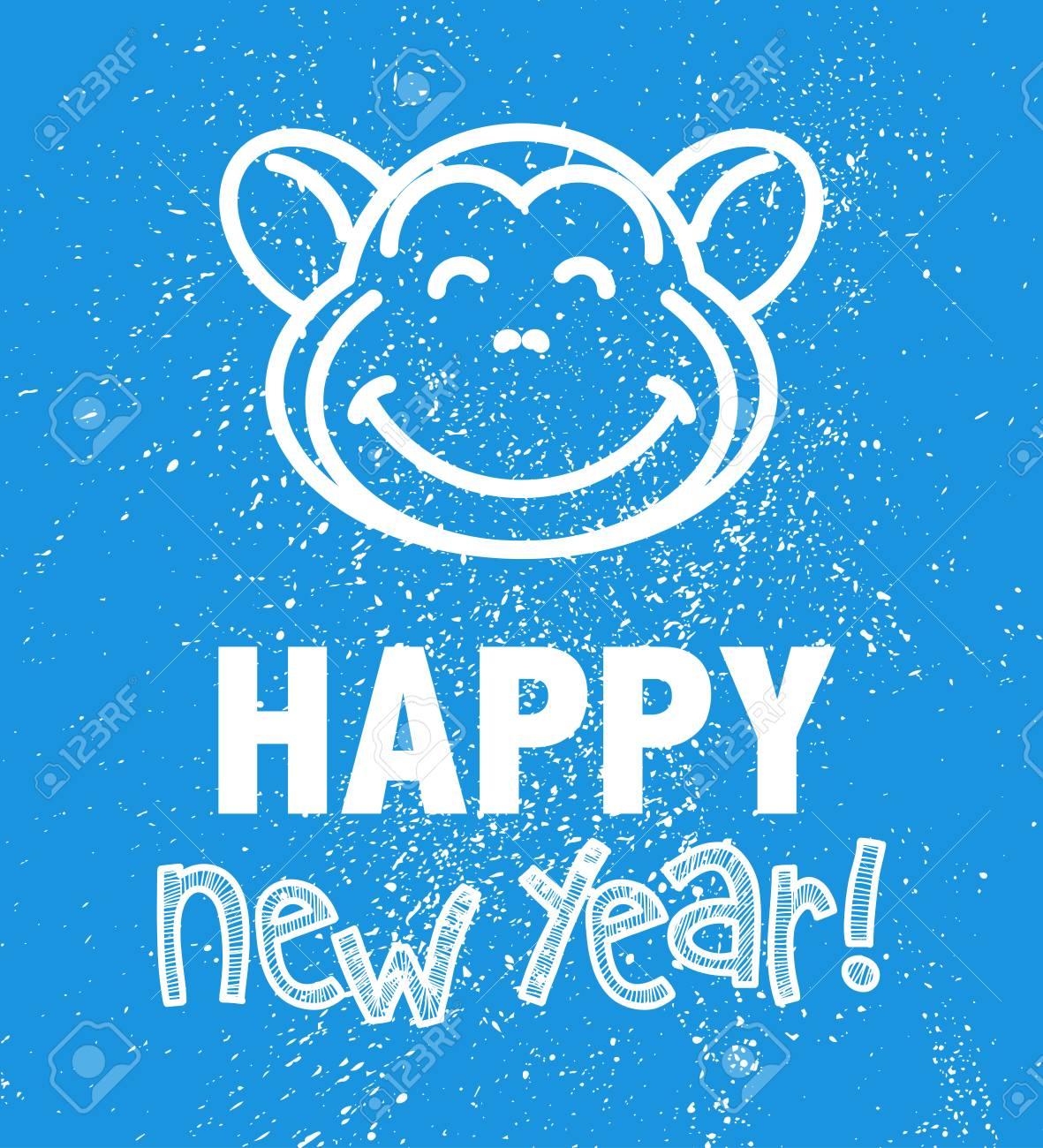 Vector Flach Neues Jahr 2016 Glückwünsche Und ...