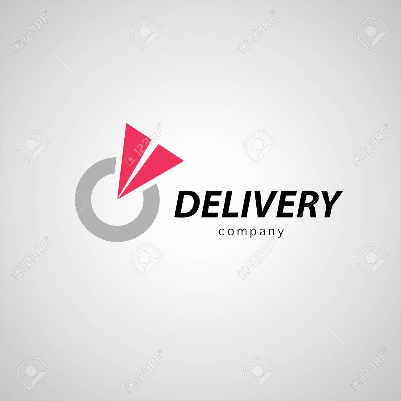 Vector flat logo template for logistics and delivery company. Shipping service insignia design. - 51163760