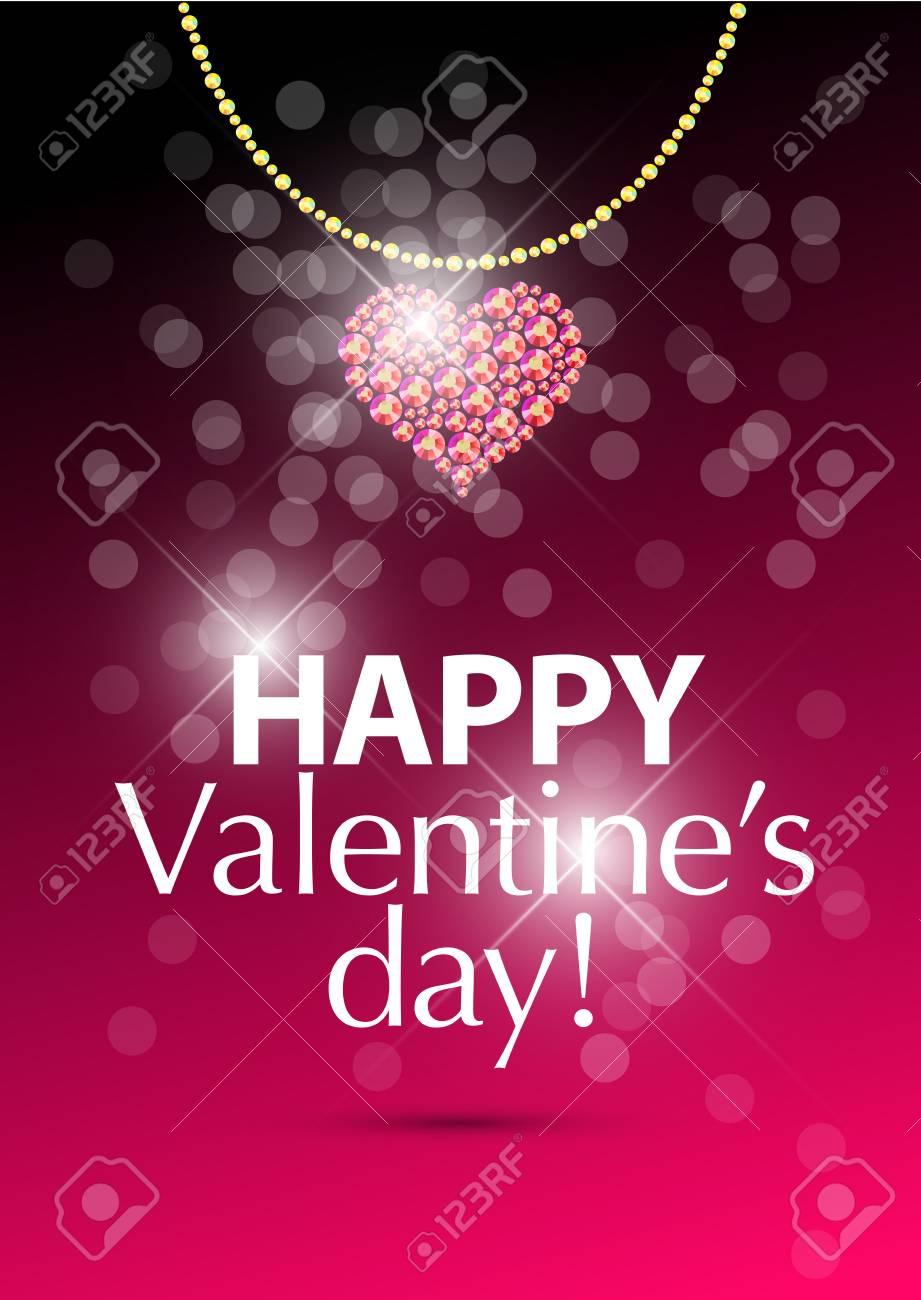 Vector Valentine S Day Card Design Love Postcard Wedding