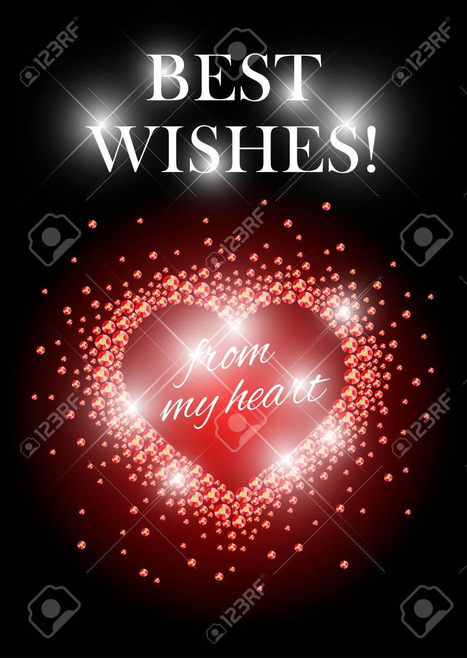 Vector Valentine\'s Day Card Design. Love Postcard, Wedding ...