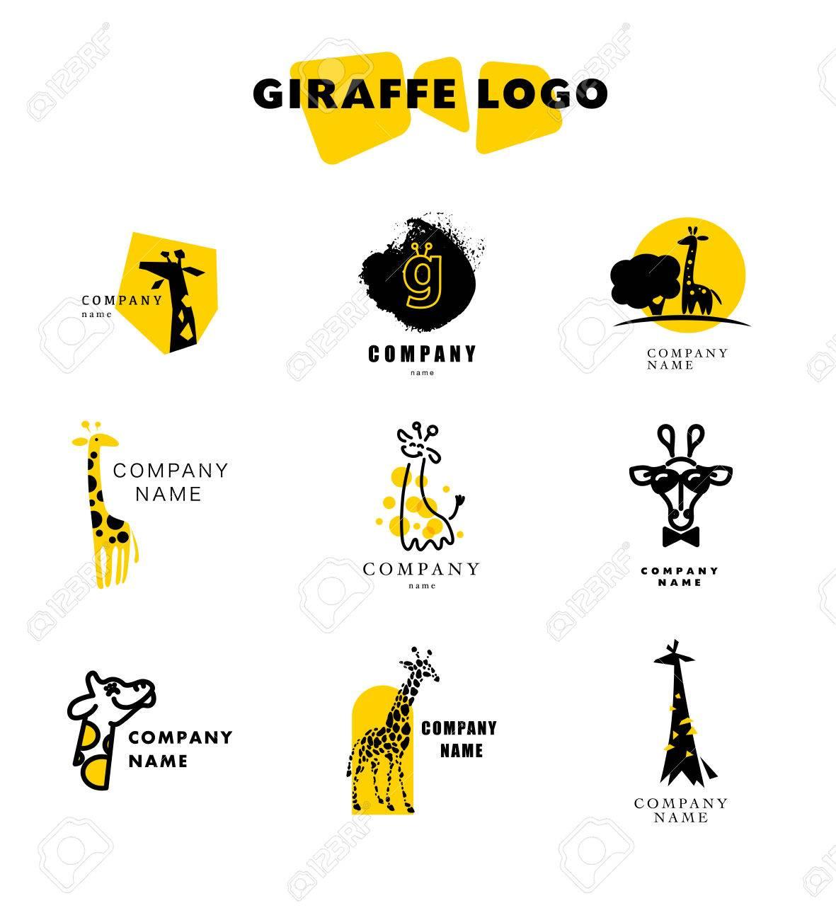 ベクトル キリンのロゴ イラスト。野生動物のロゴ。キリン アイコン
