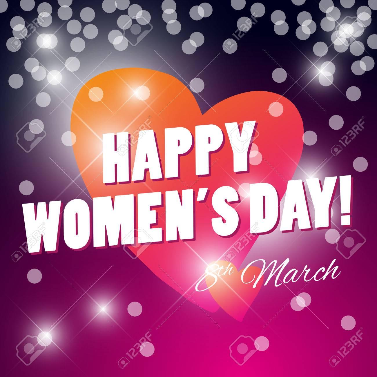 Vector Womens Day Card Template Invitation Card Congratulation